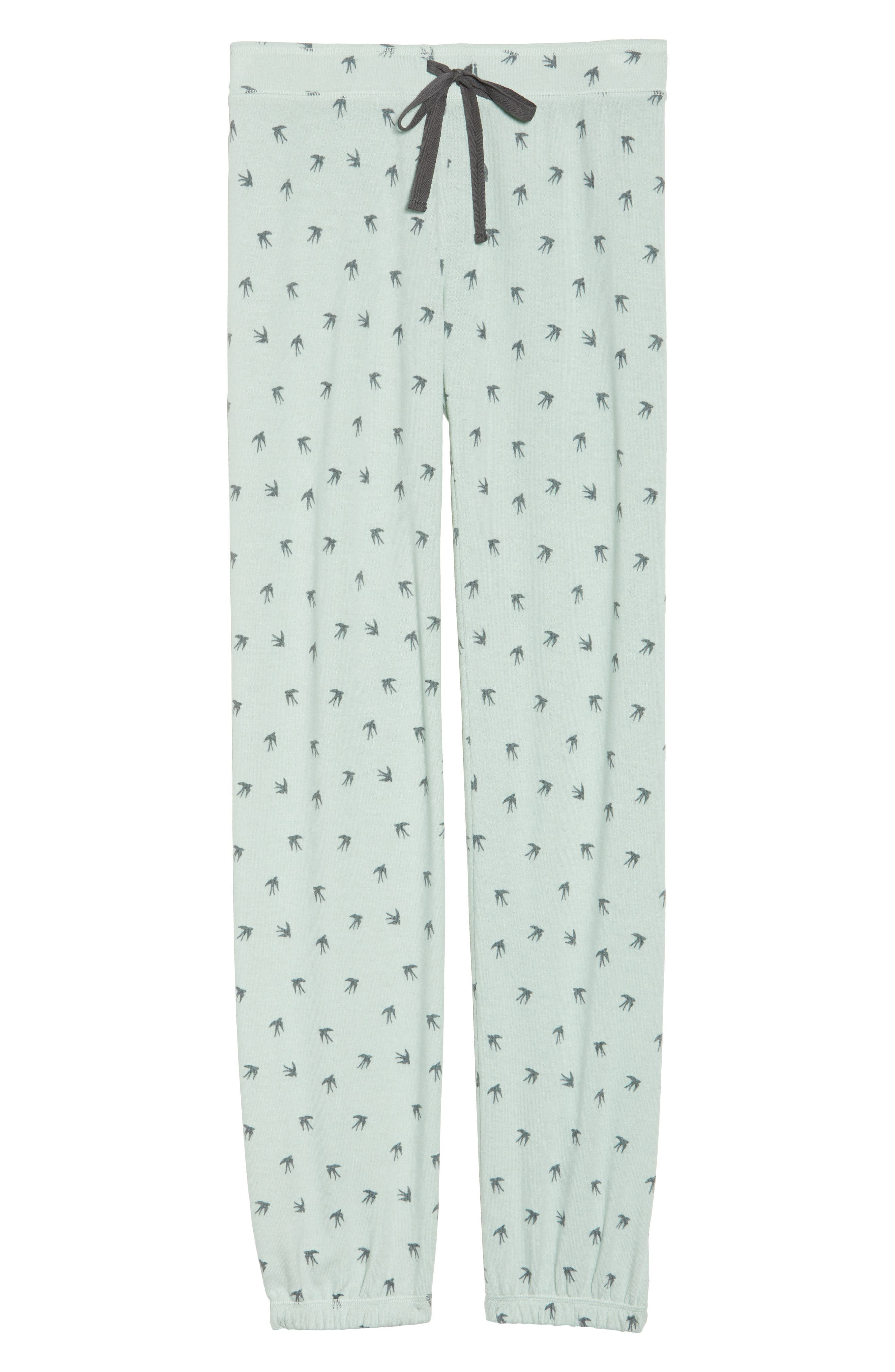 Peachy Pajama Pants,                             Alternate thumbnail 4, color,                             Seafoam