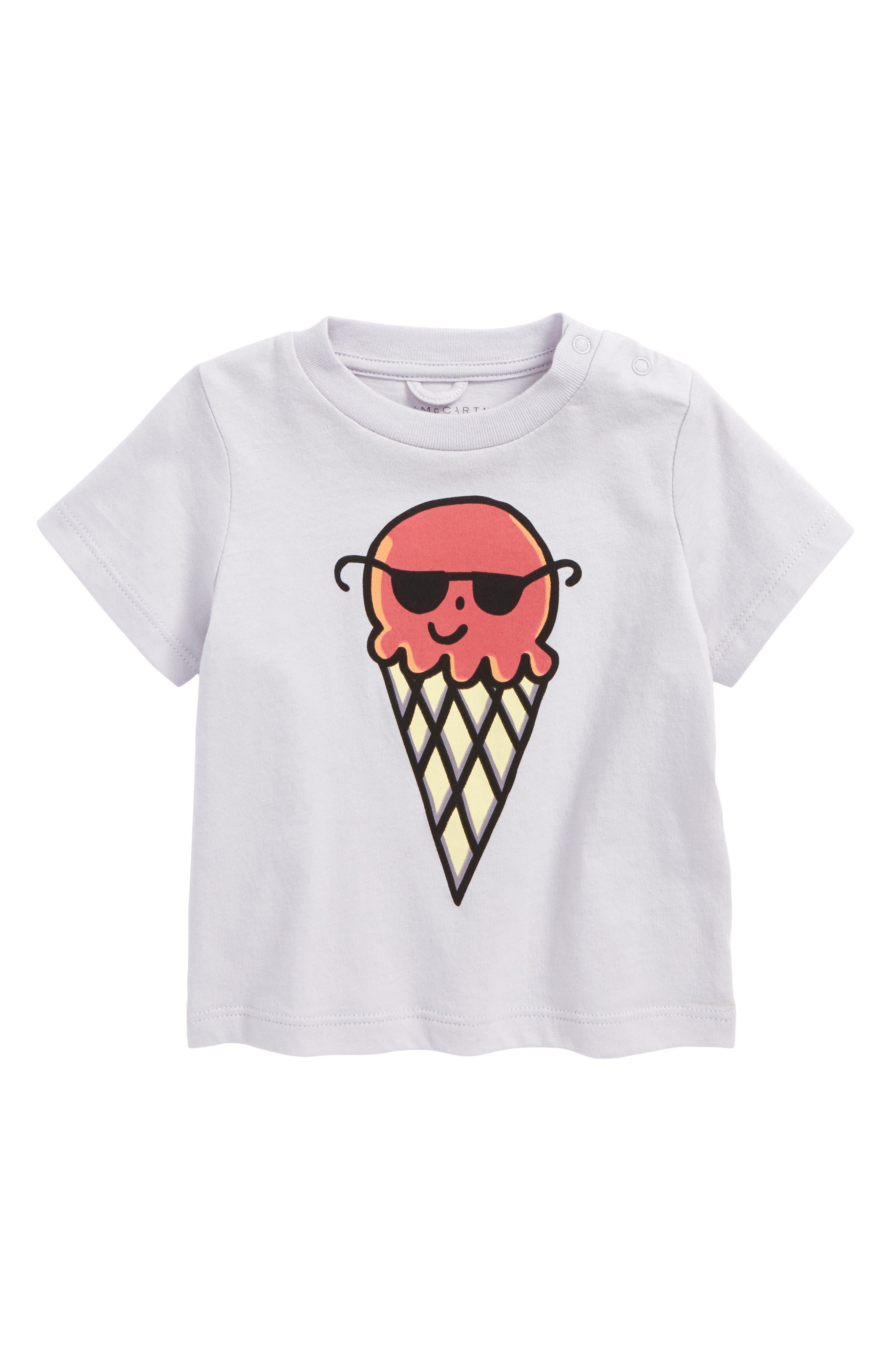 Chuckle Ice Cream Cone Tee,                             Main thumbnail 1, color,                             Lavender