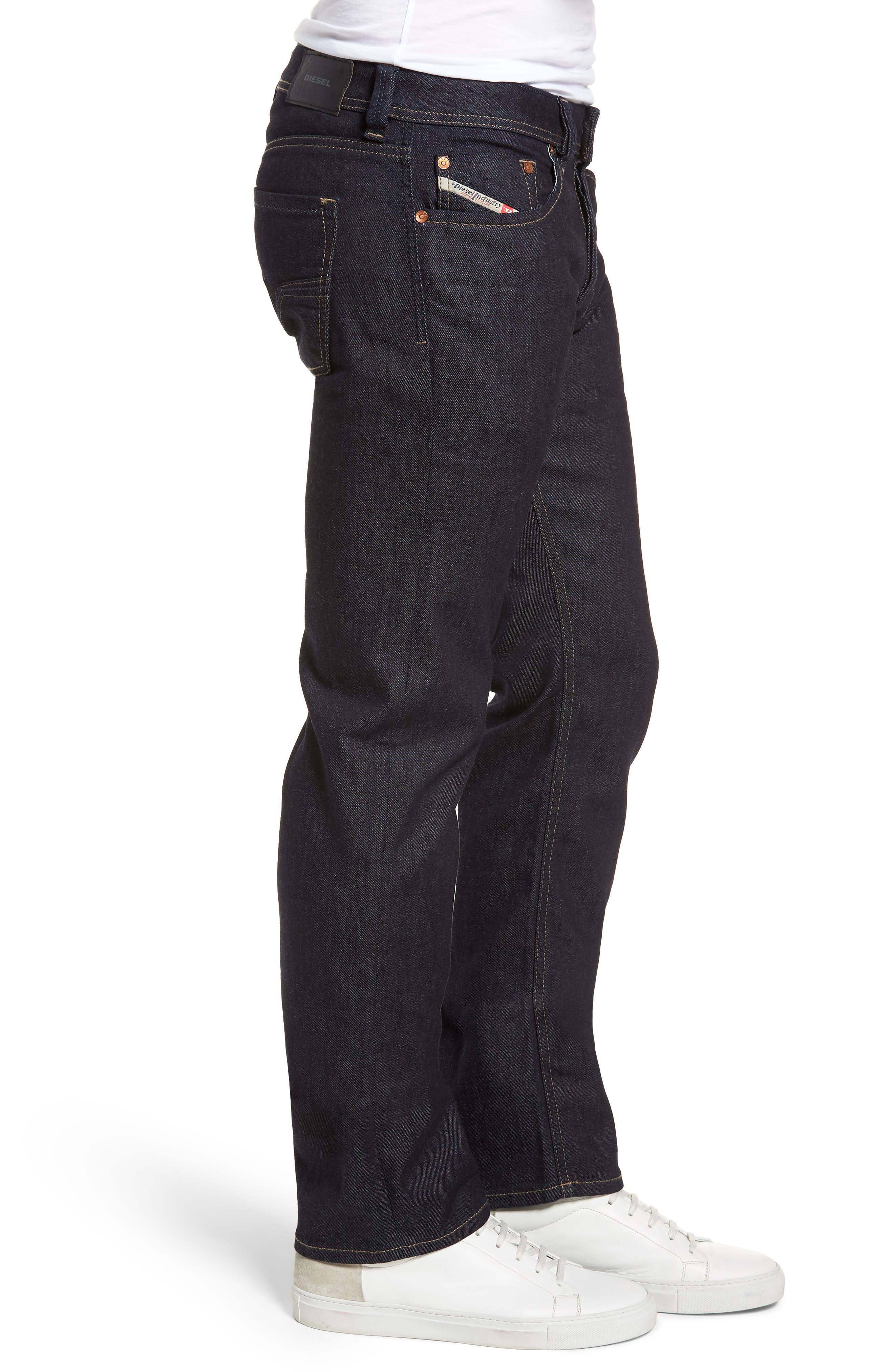 Larkee Relaxed Fit Jeans,                             Alternate thumbnail 3, color,                             Blue