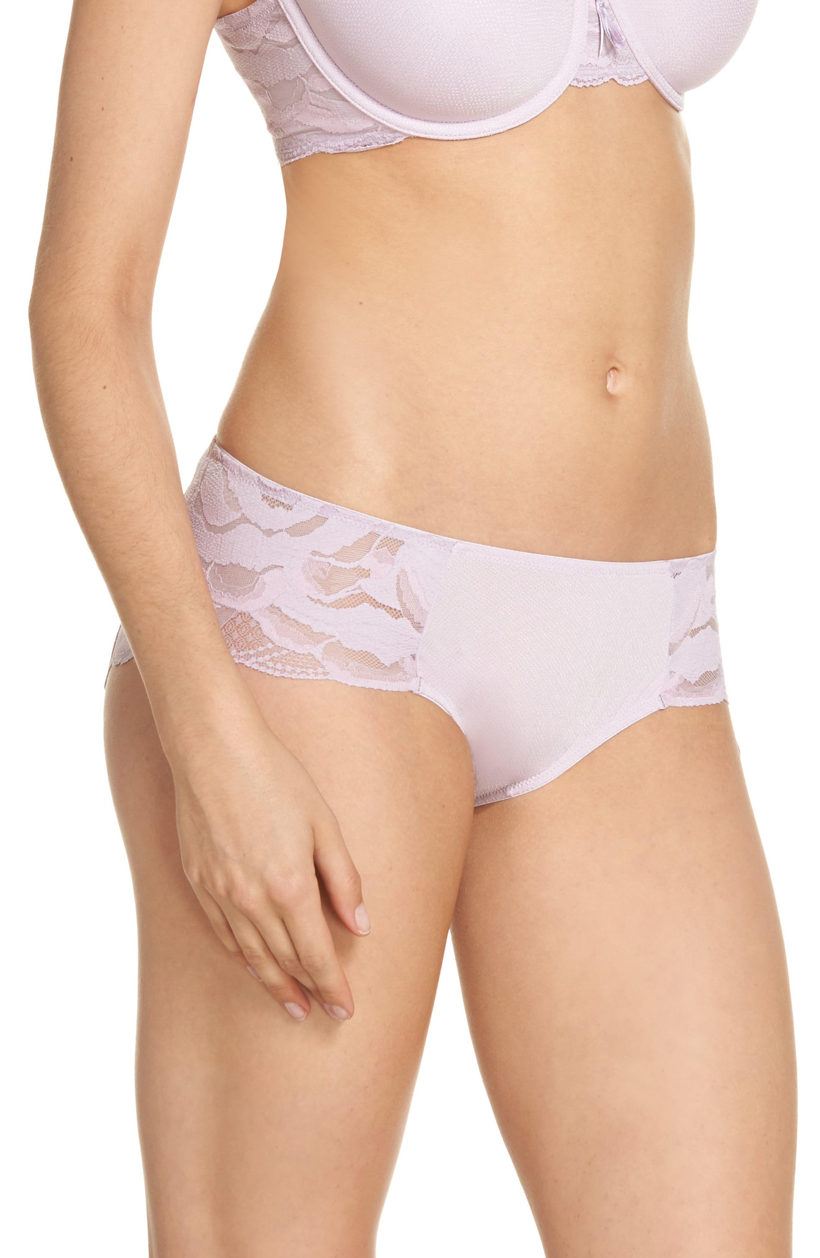 Hipster Top Tier Panties,                             Alternate thumbnail 3, color,                             Lavender Frost