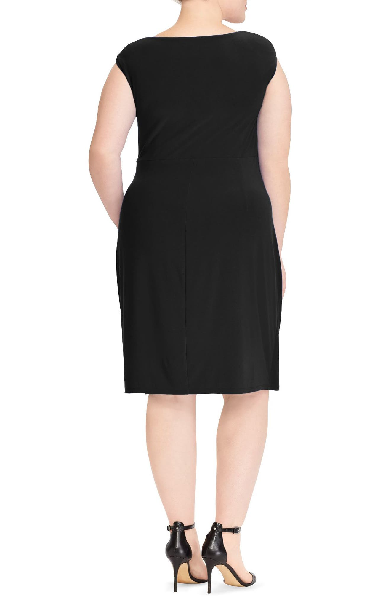 Adara Sheath Dress,                             Alternate thumbnail 2, color,                             Black