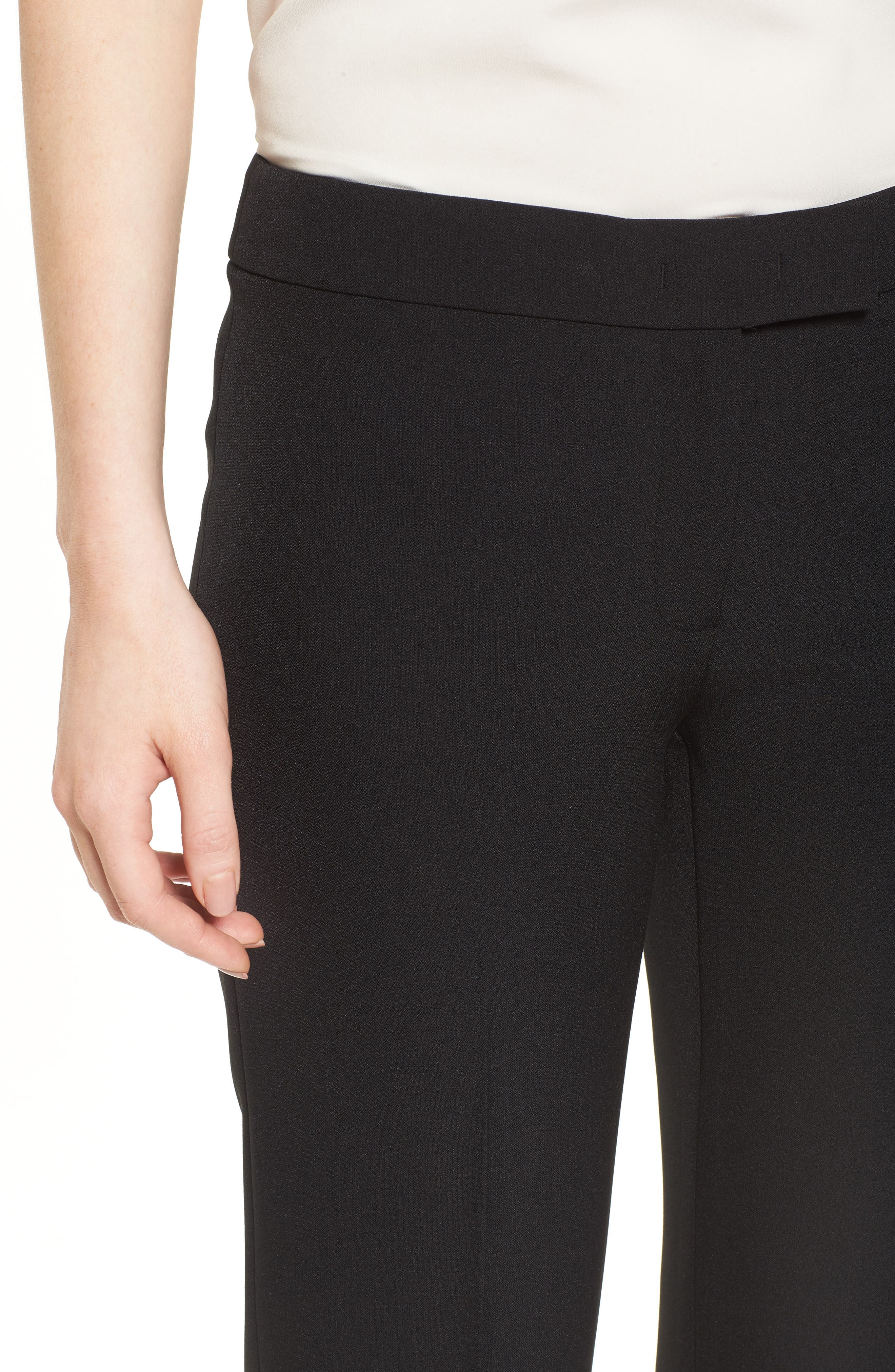 Flare Leg Pants,                             Alternate thumbnail 4, color,                             Black