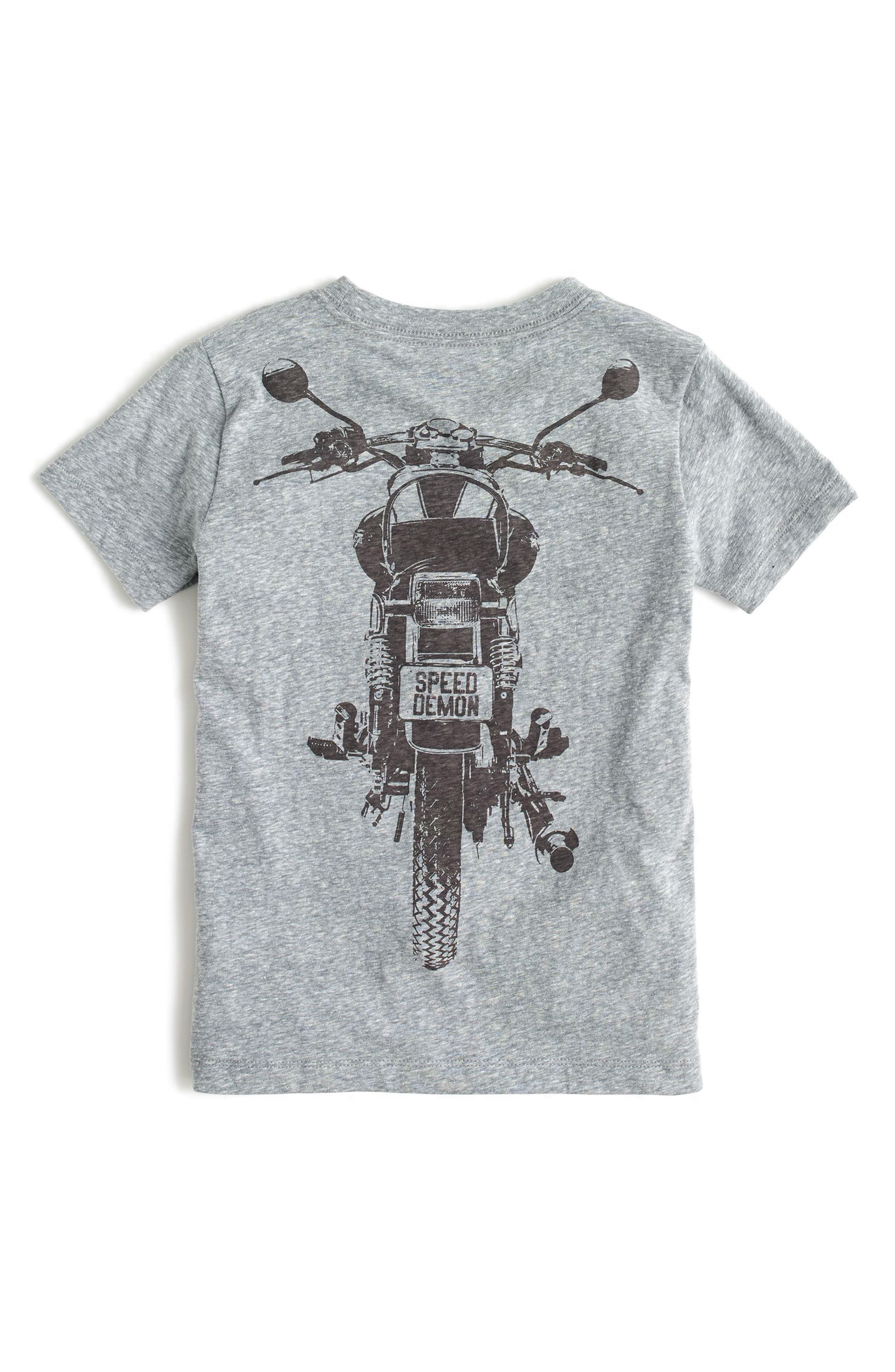 Glow in the Dark Motorcycle Graphic T-Shirt,                             Alternate thumbnail 2, color,                             Dark Boulder