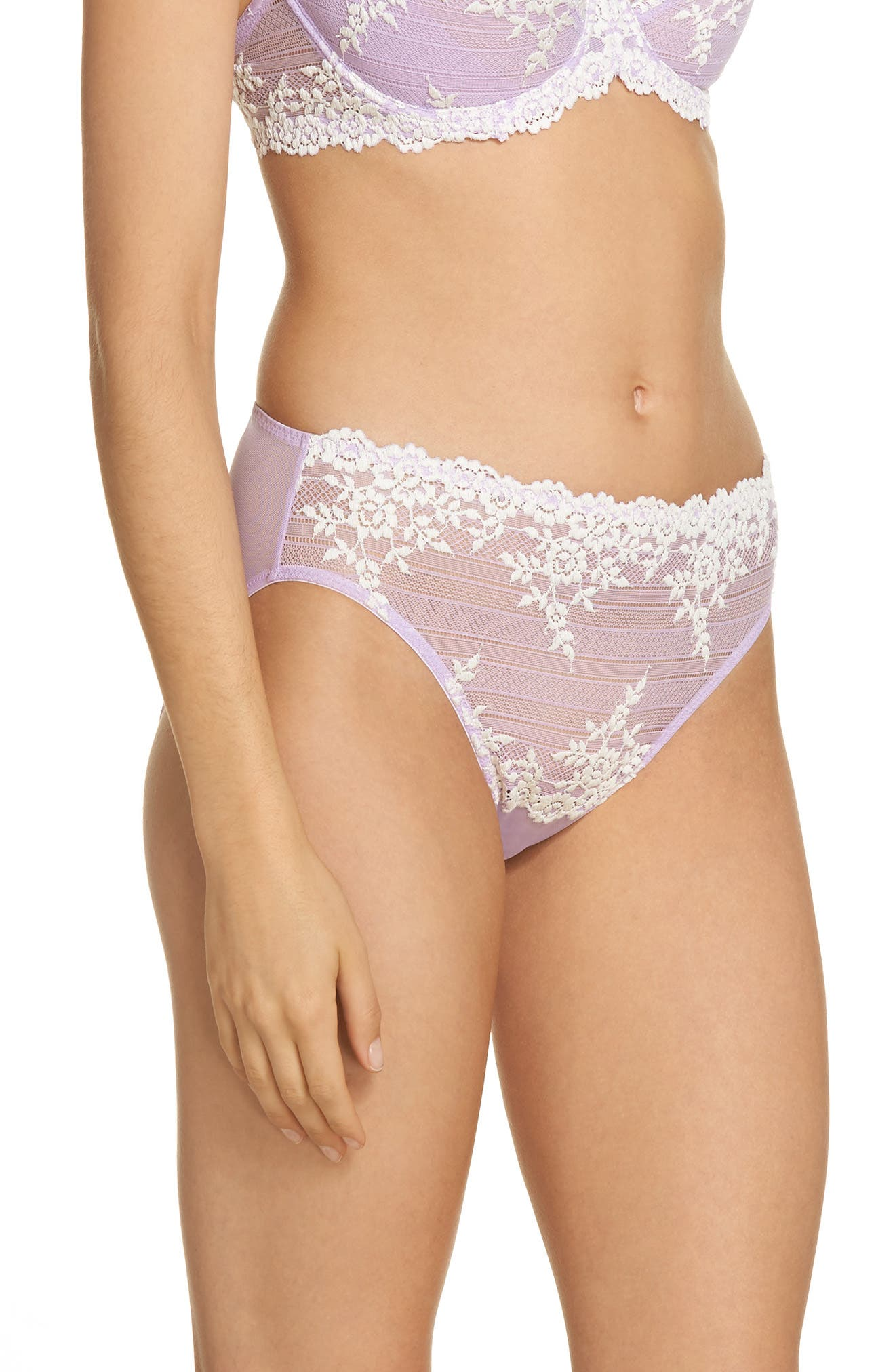 High Cut Briefs,                             Alternate thumbnail 3, color,                             Lavender