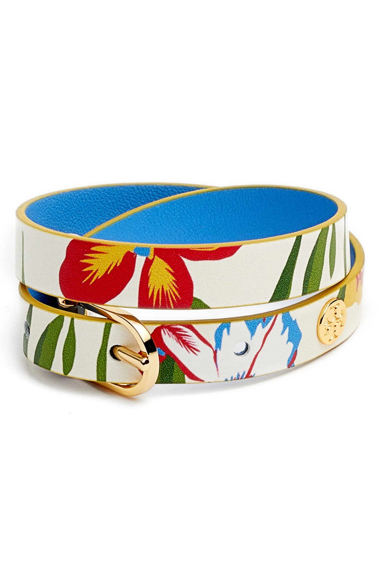 Tory Burch Reversible Leather Double Wrap Bracelet