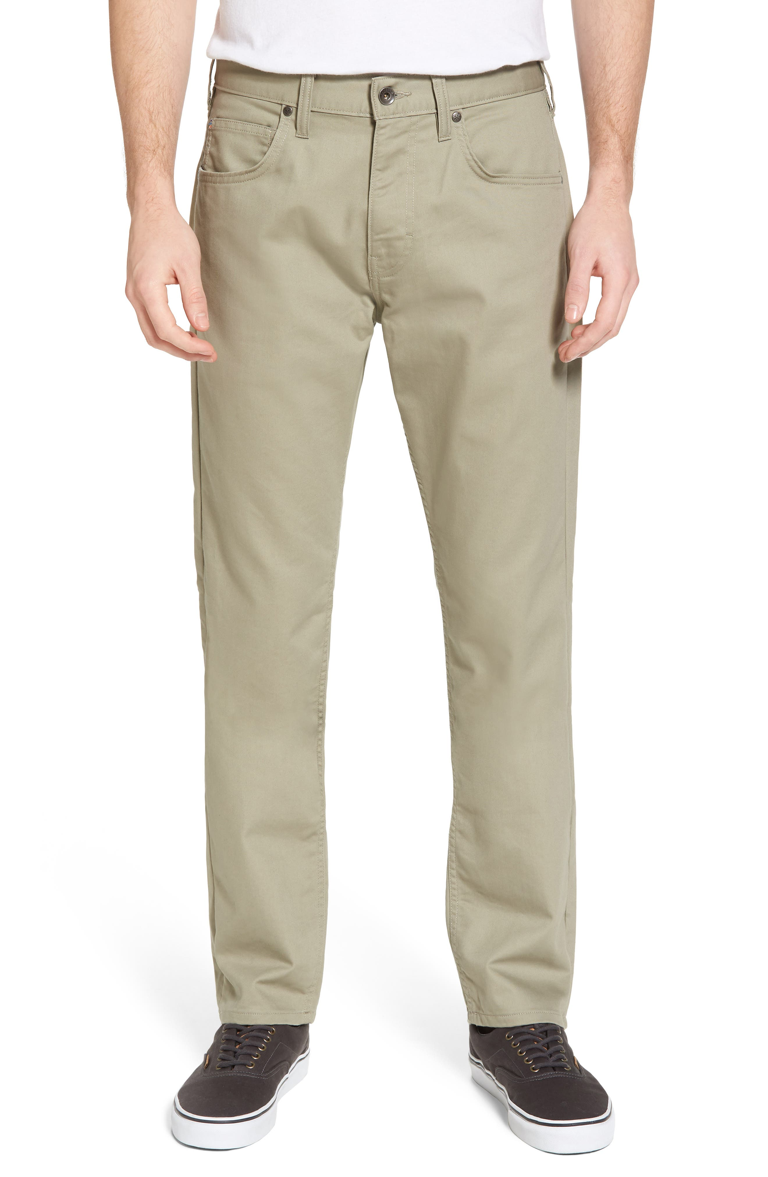 M's Performance Twill Jeans,                         Main,                         color, Shale