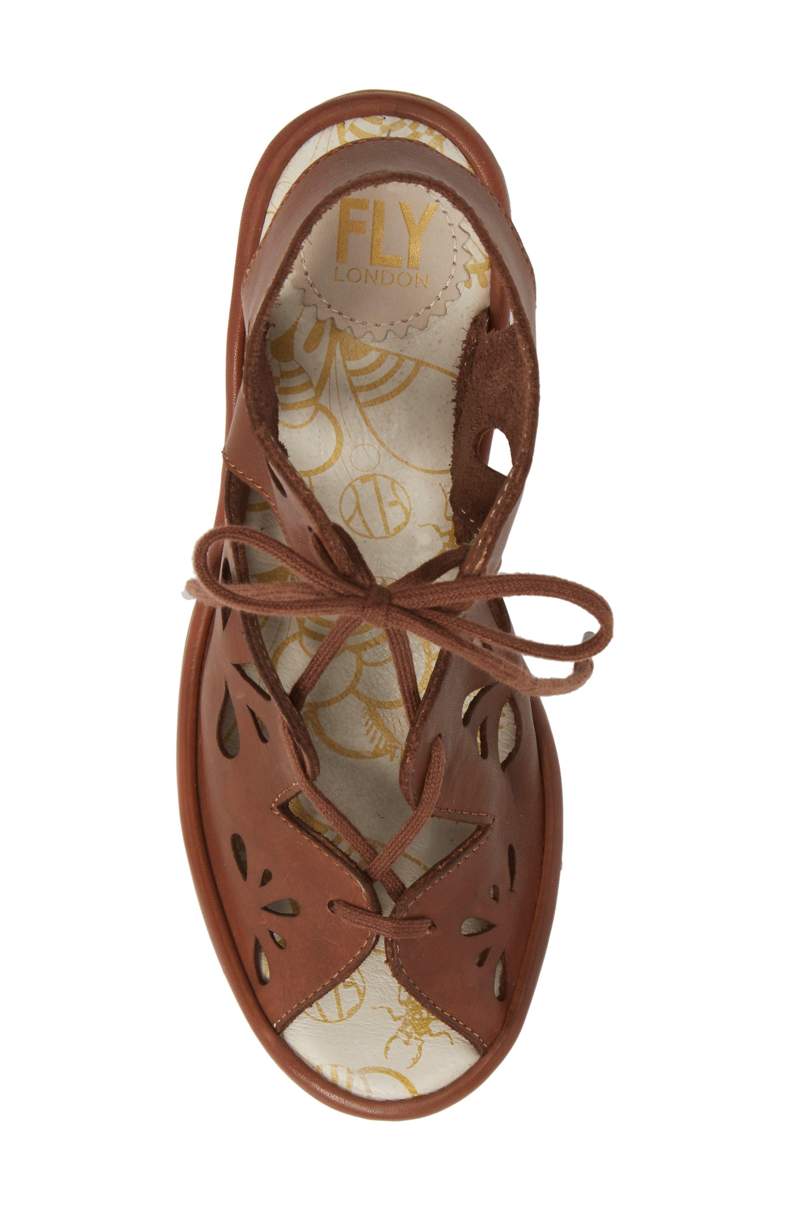 Yote Sandal,                             Alternate thumbnail 5, color,                             Brown Colmar Leather
