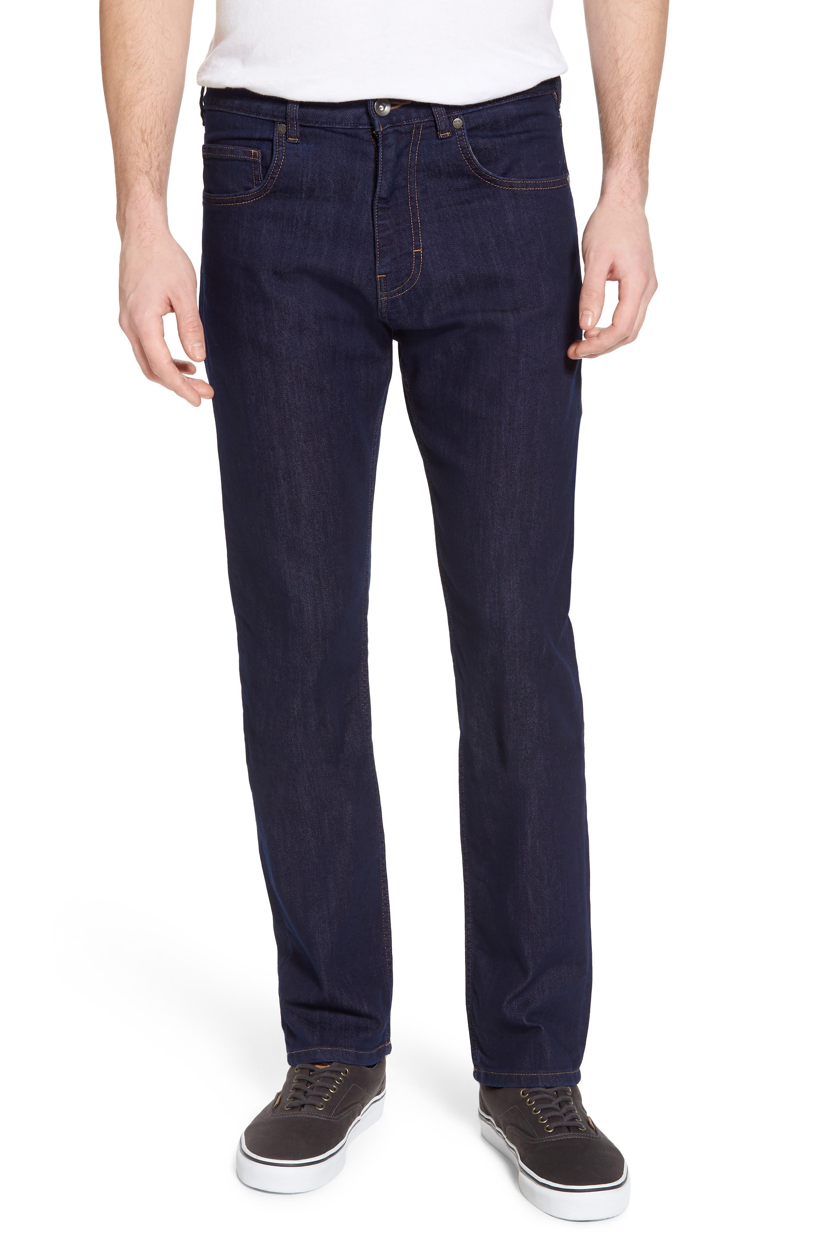 Straight Leg Performance Jeans,                             Main thumbnail 1, color,                             Dark Denim