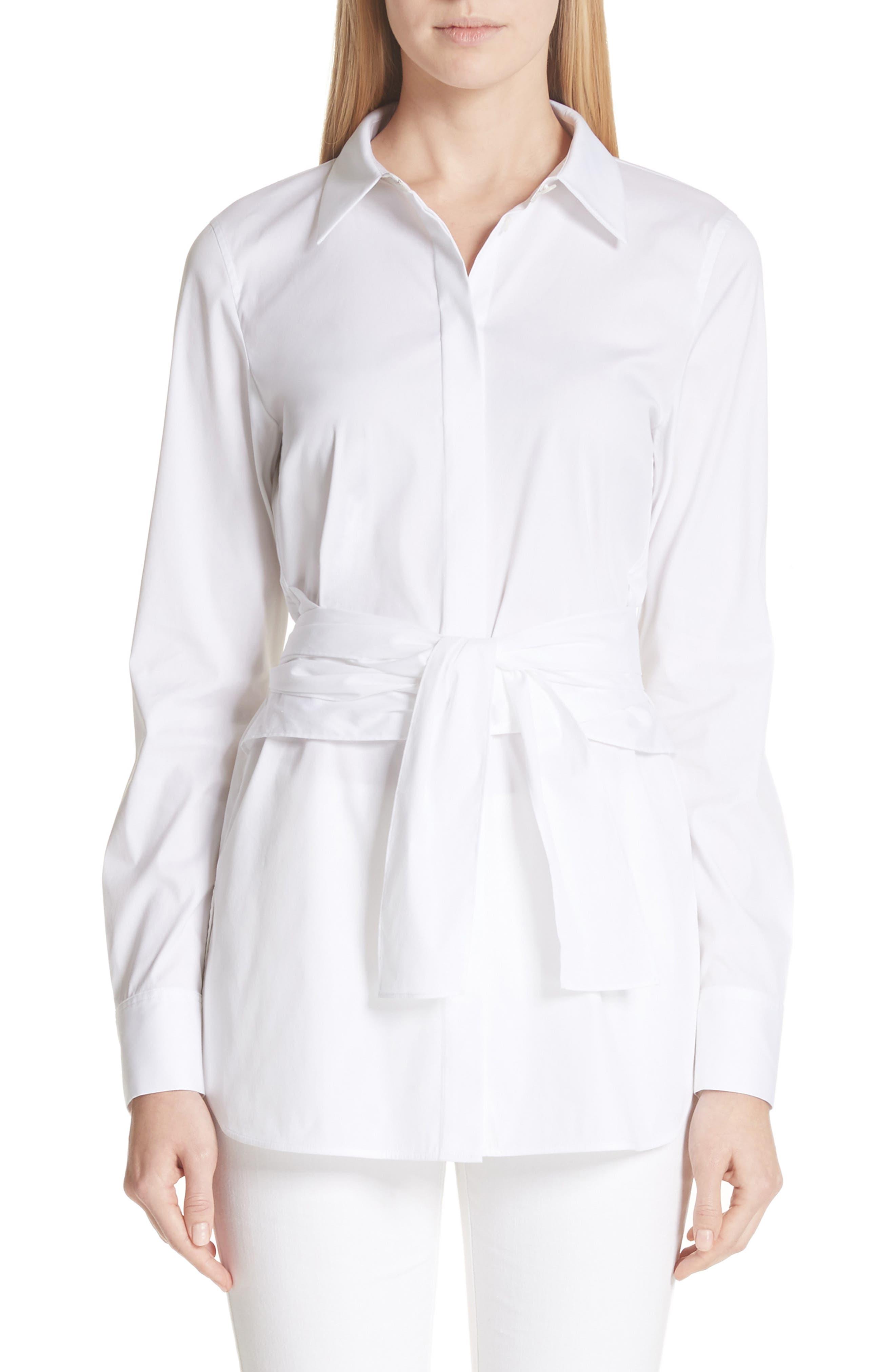 Cordelia Stretch Blouse,                         Main,                         color, White