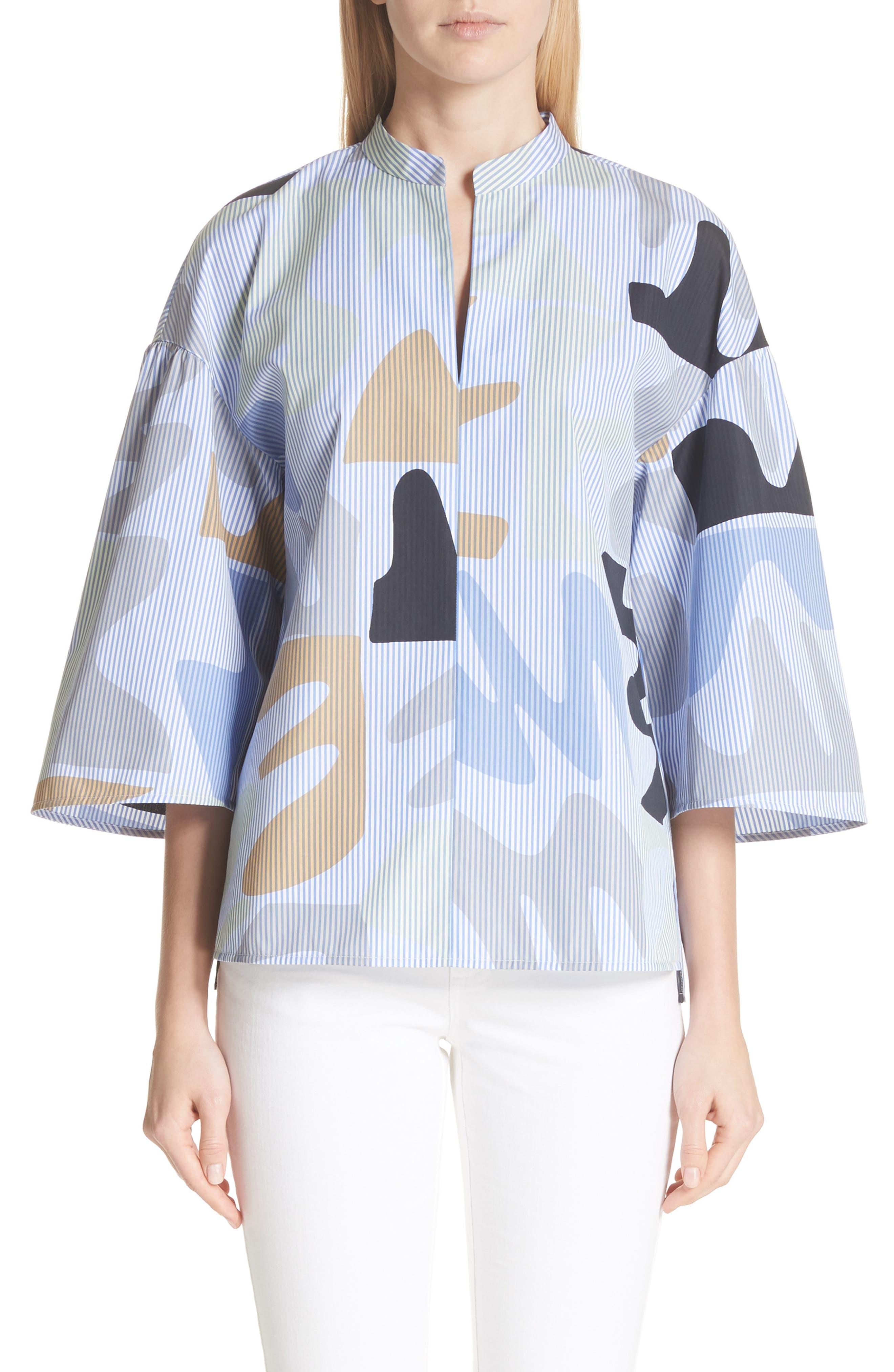 Carla Urban Ethos Stripe Blouse,                         Main,                         color, Periwinkle Multi