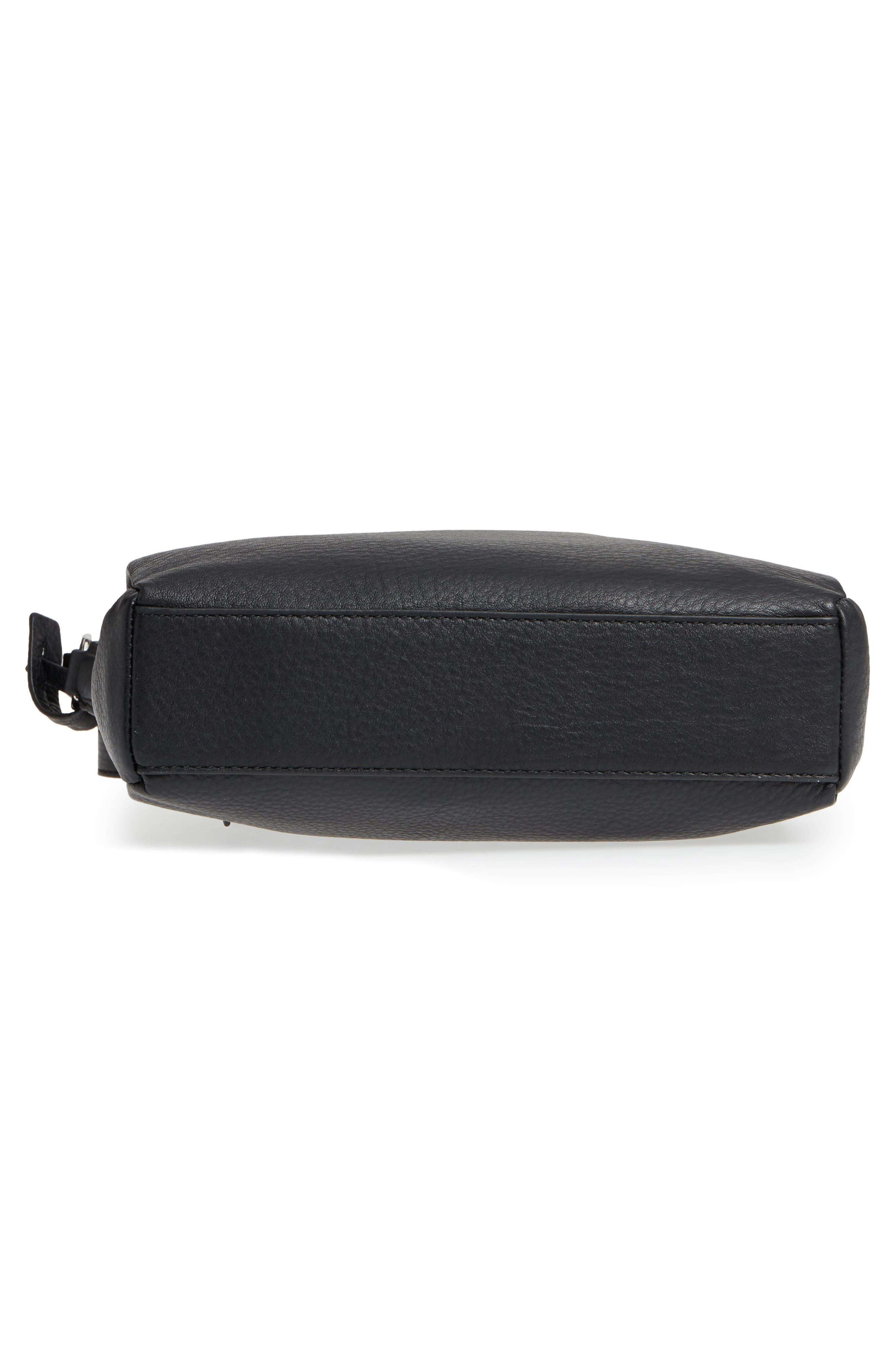 Staja Leather Crossbody Bag,                             Alternate thumbnail 7, color,                             Nero