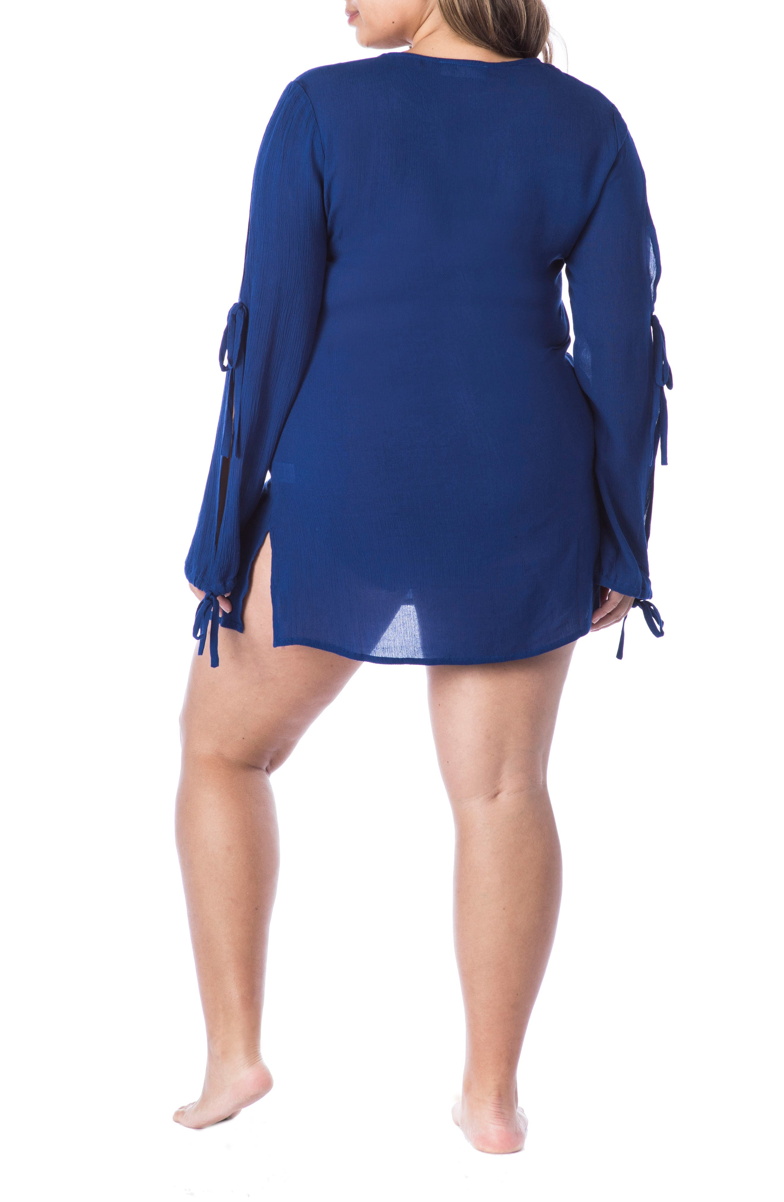 Leaf It Cover-Up Tunic,                             Alternate thumbnail 2, color,                             Midnight