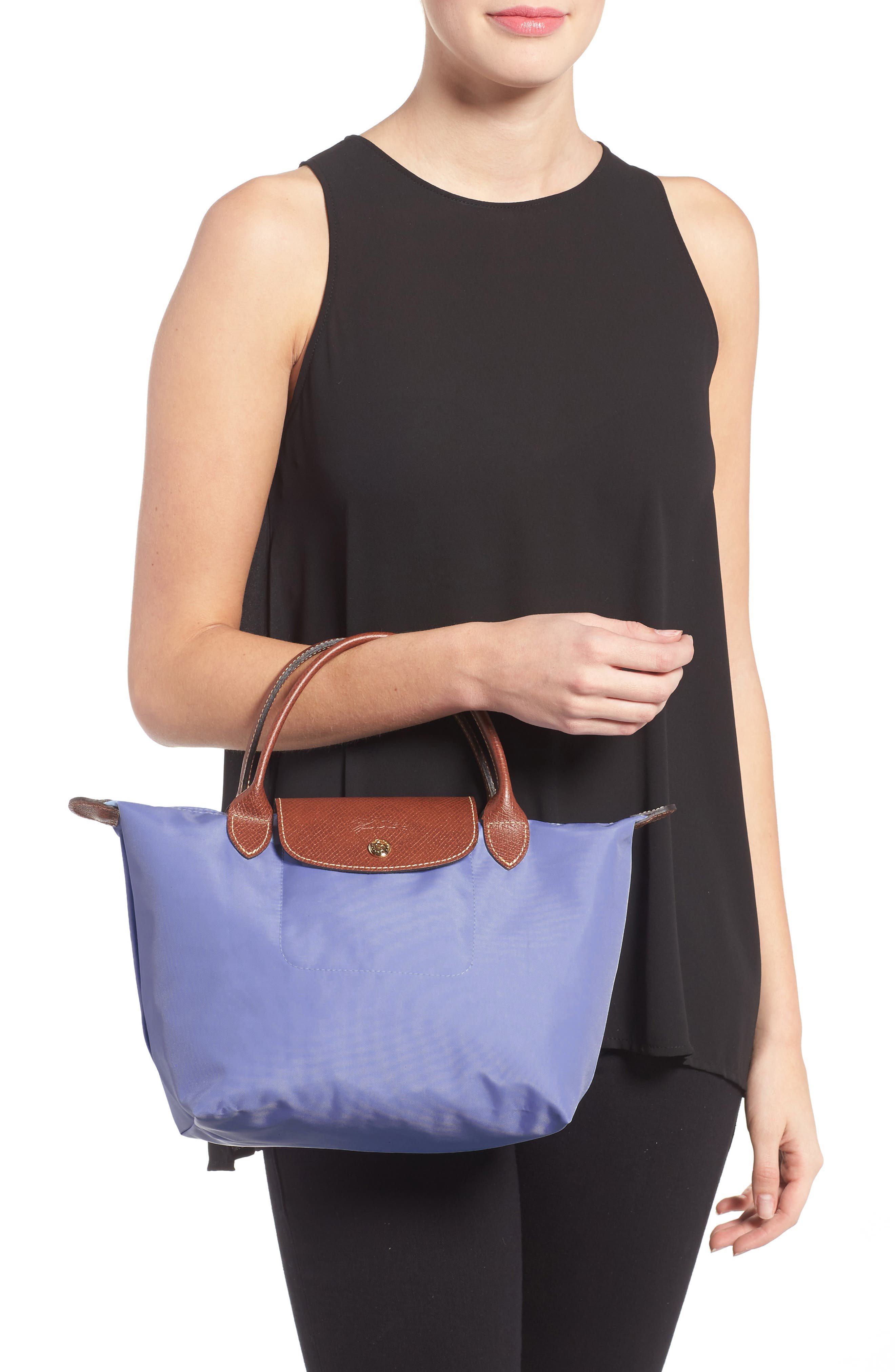 'Small Le Pliage' Top Handle Tote,                             Alternate thumbnail 2, color,                             Lavender
