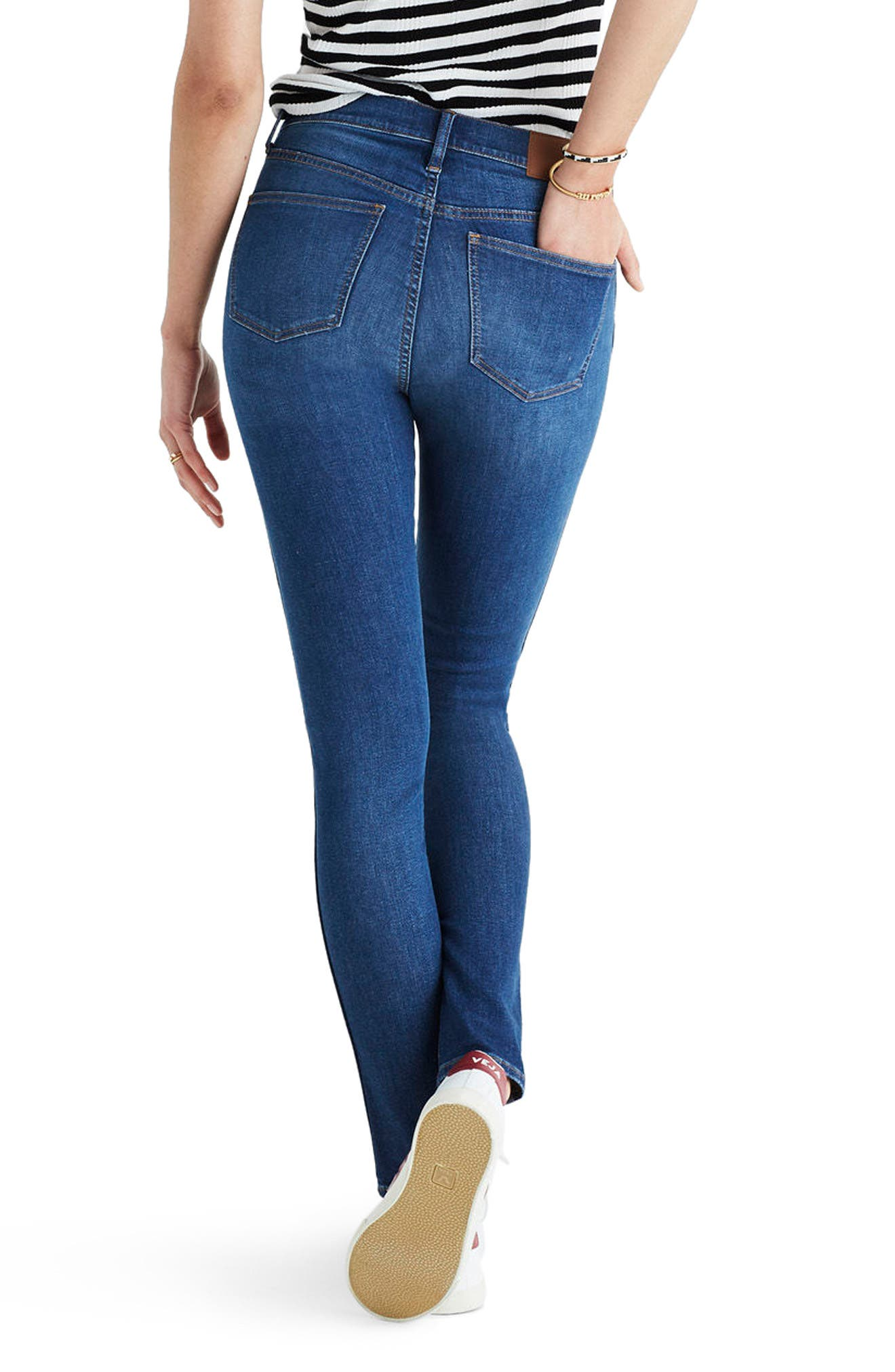 9-Inch High Waist Skinny Jeans,                             Alternate thumbnail 2, color,                             Patty Wash