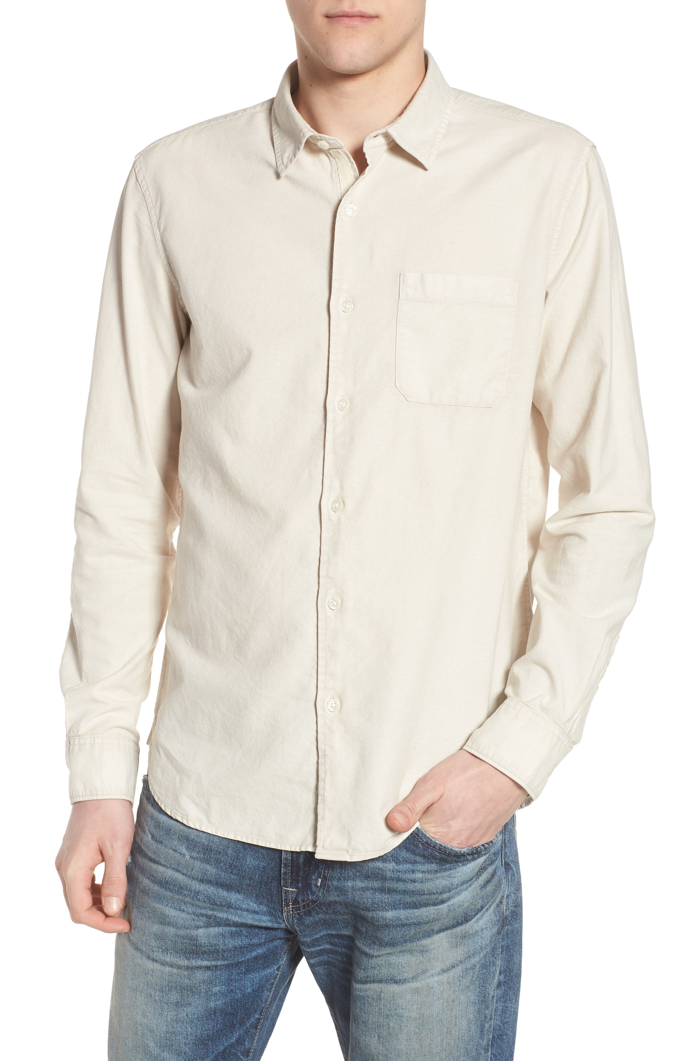 Bristol Slim Fit Sport Shirt,                         Main,                         color, Sunbaked Mineral Veil