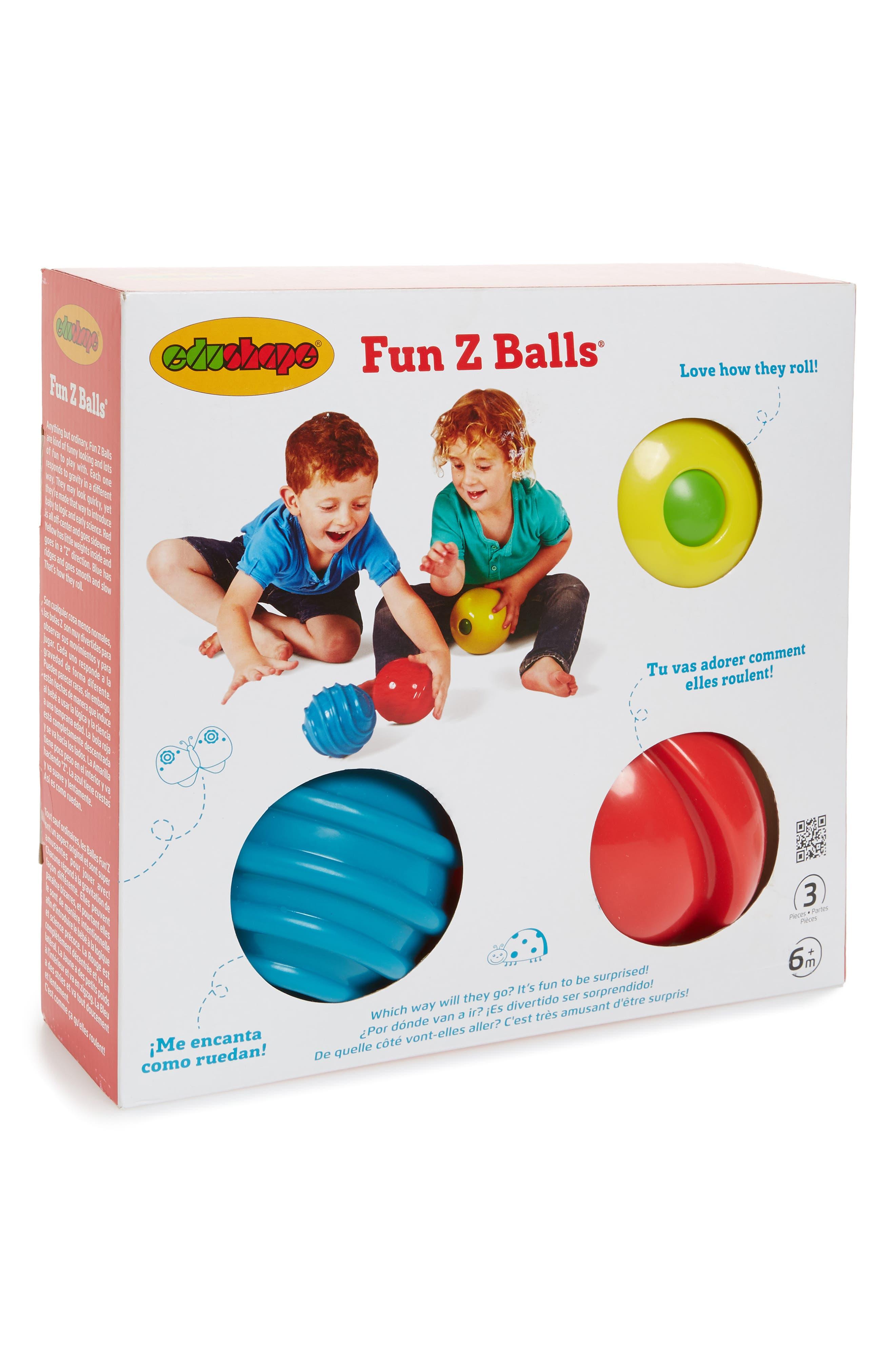 Fun Z Balls 3-Piece Ball Set,                             Main thumbnail 1, color,                             Primary Colors