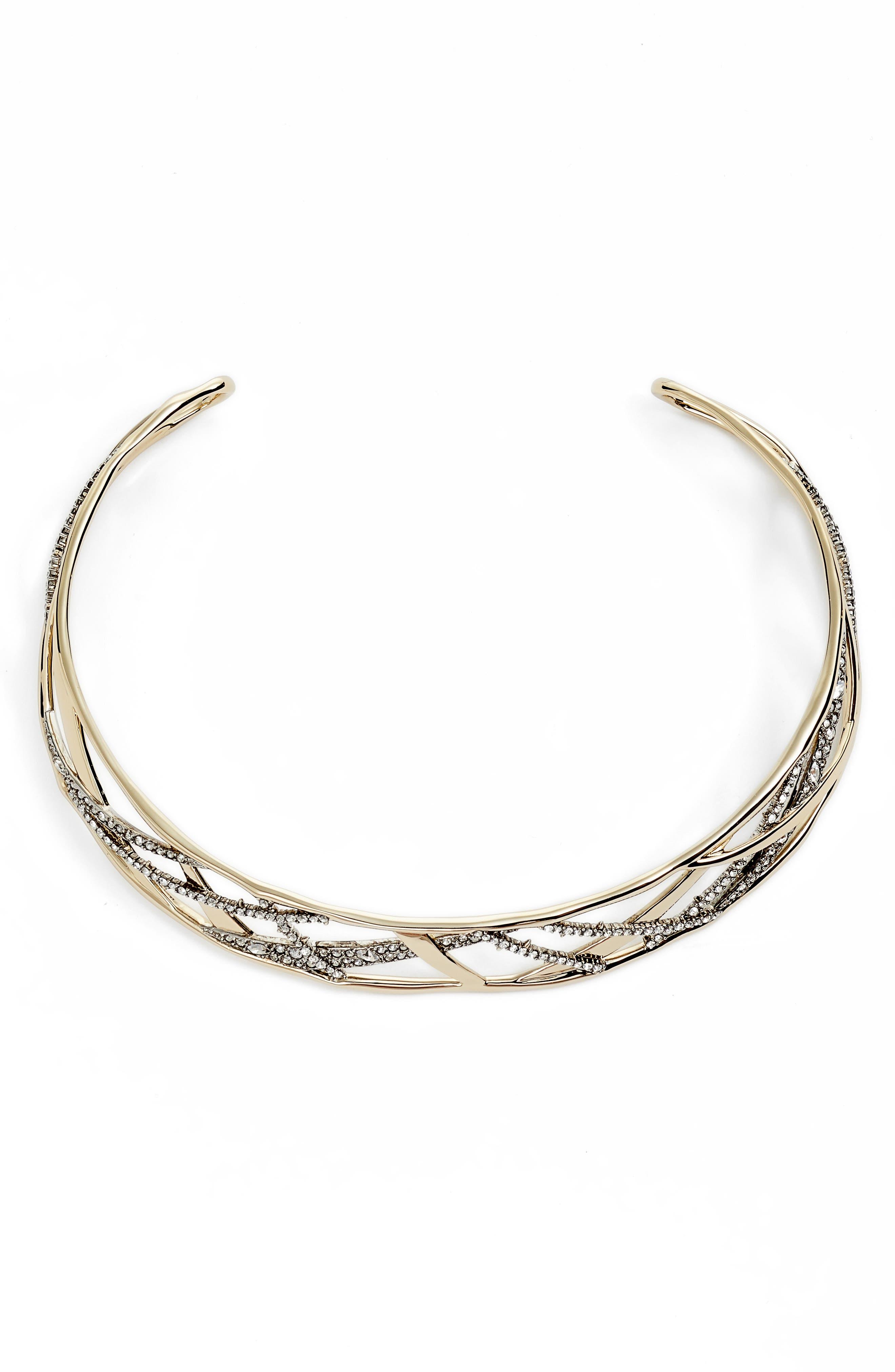 Alexis Bittar Crystal Encrusted Plaid Collar Necklace Mg7jRlvDv