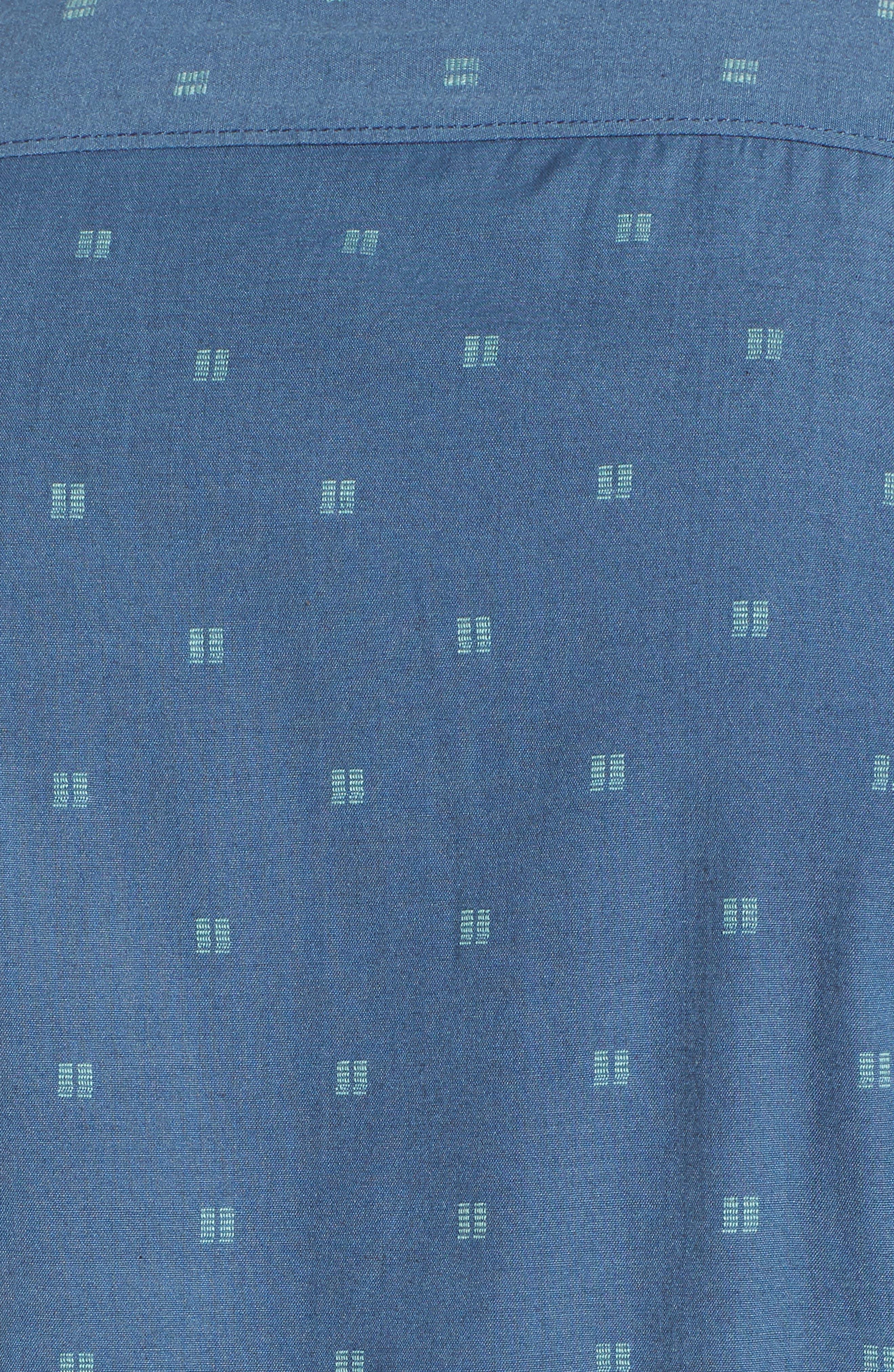 All Day Jacquard Shirt,                             Alternate thumbnail 5, color,                             Deep Blue