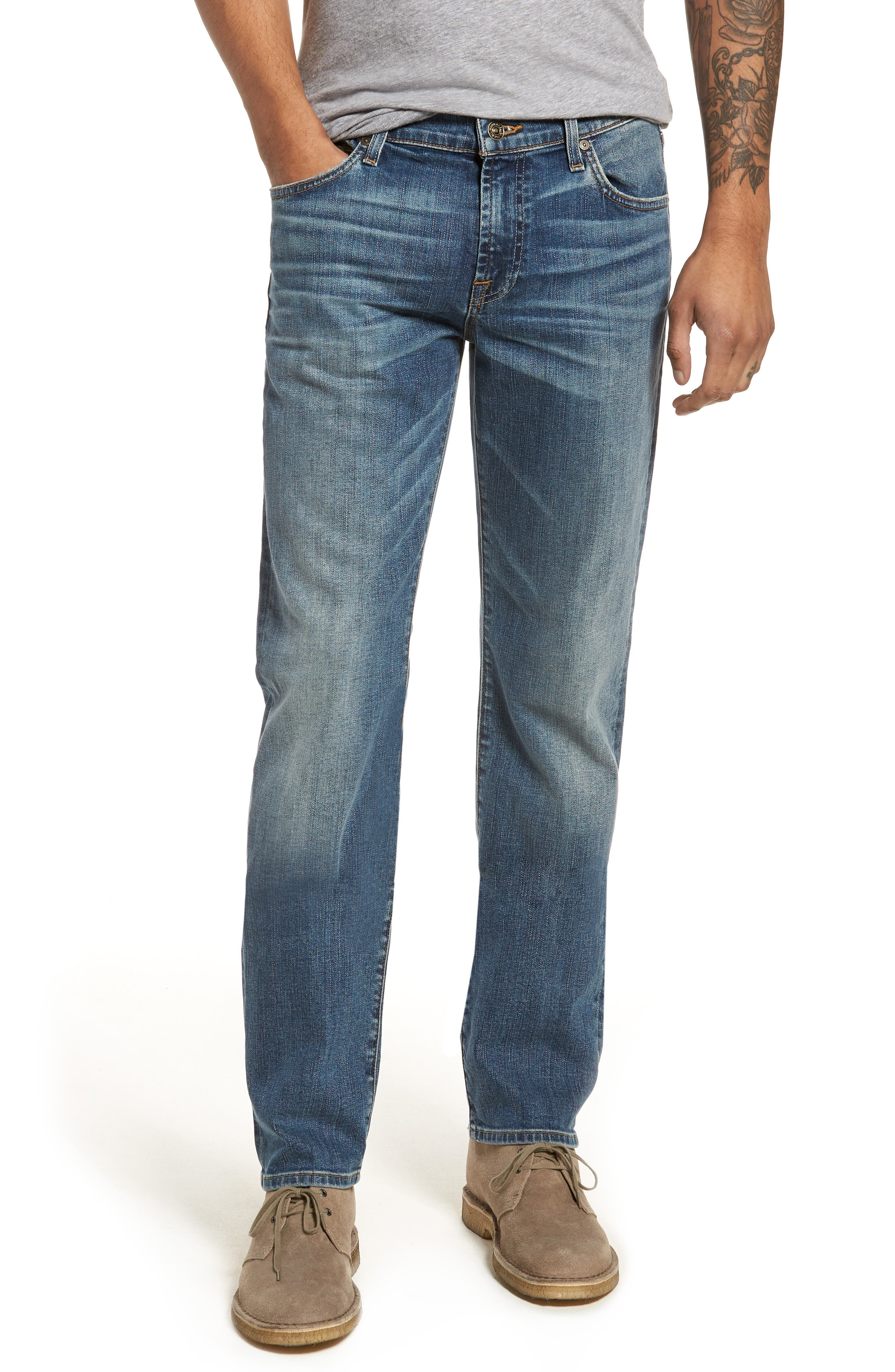 7 For All Mankind® Slimmy Slim Fit Jeans (Bedrock)