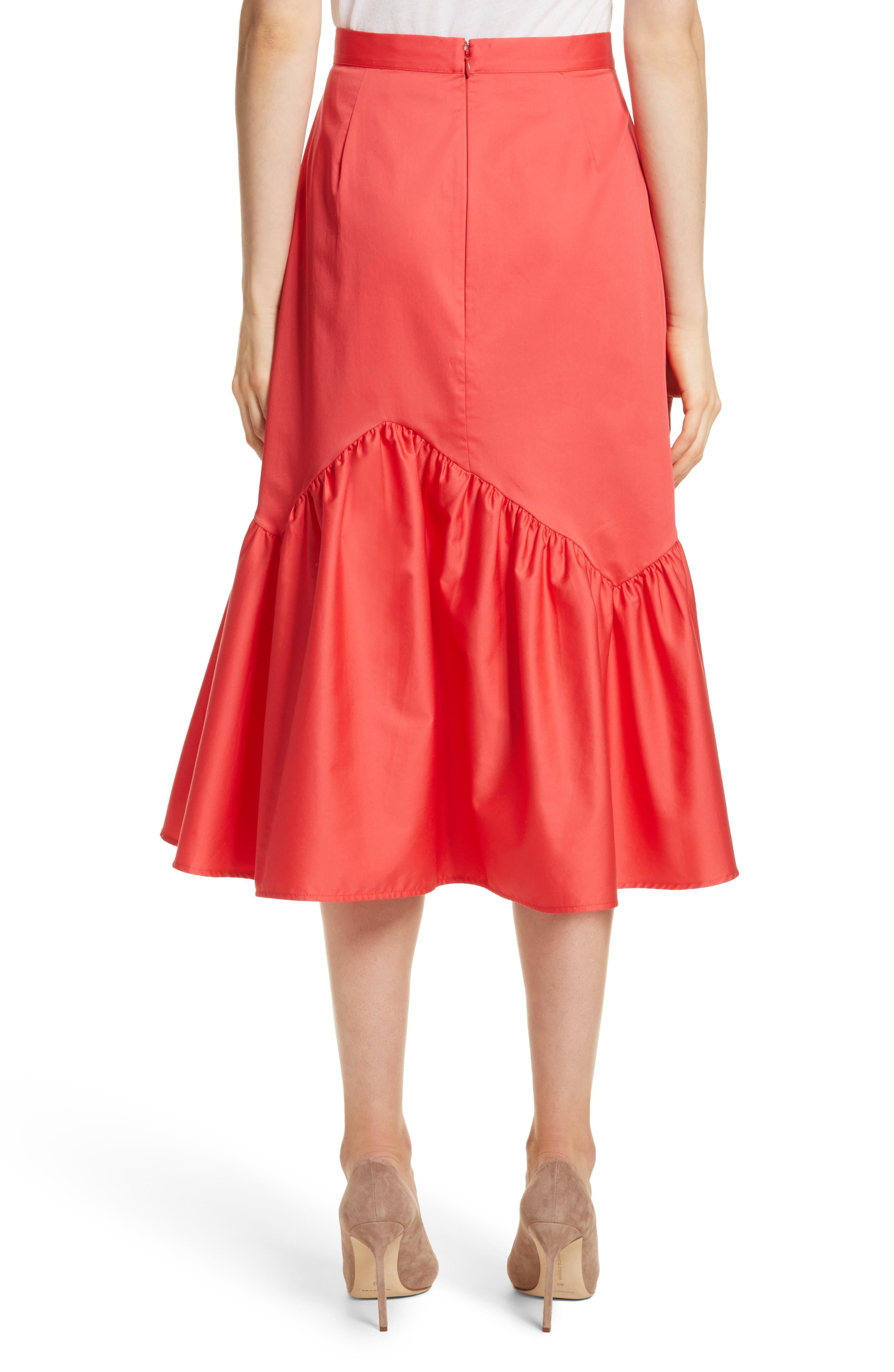 Prose & Poetry Tyra Midi Skirt,                             Alternate thumbnail 2, color,                             Watermelon