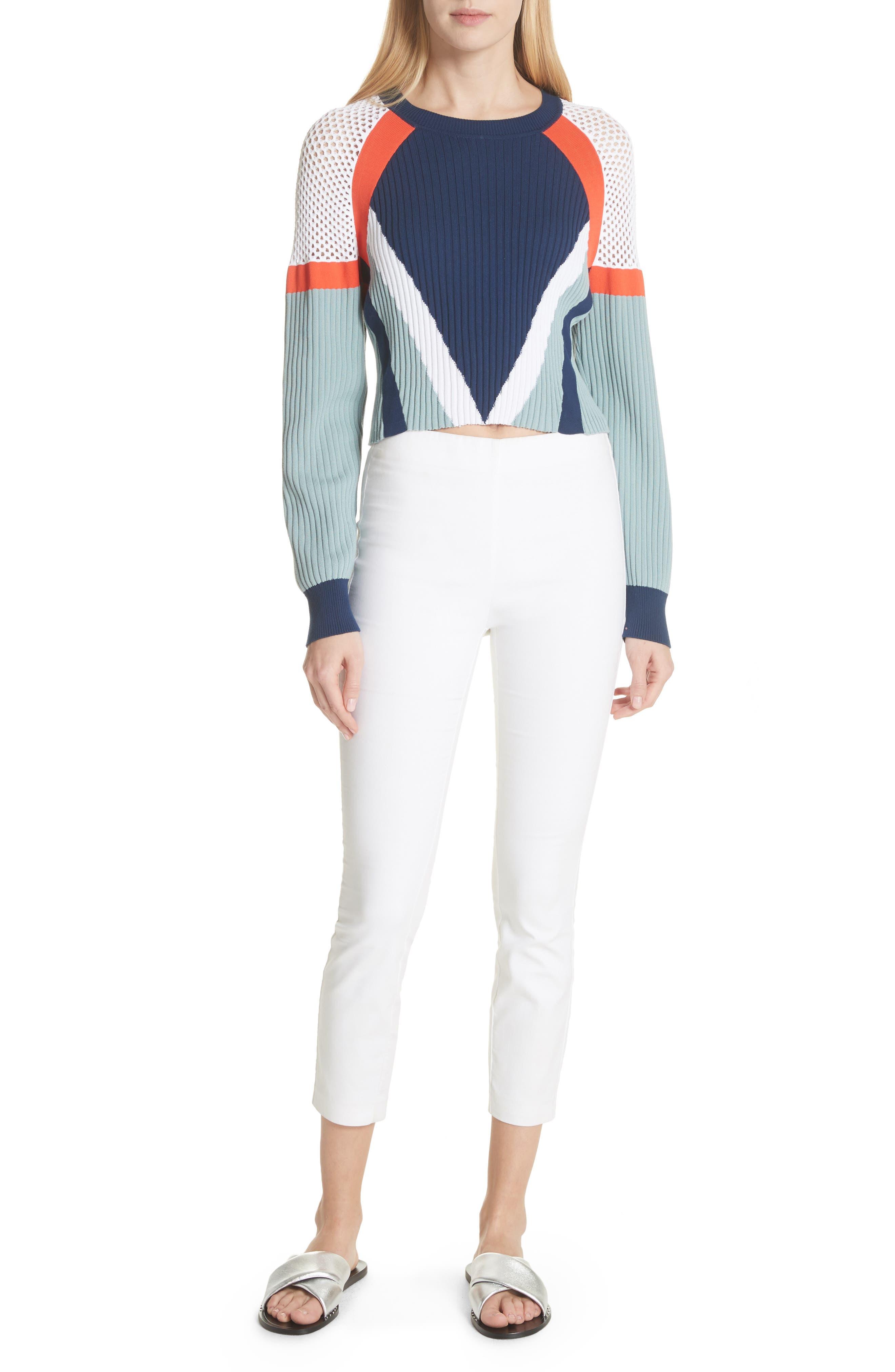 Alternate Image 7  - rag & bone Lark Colorblock Crop Sweater