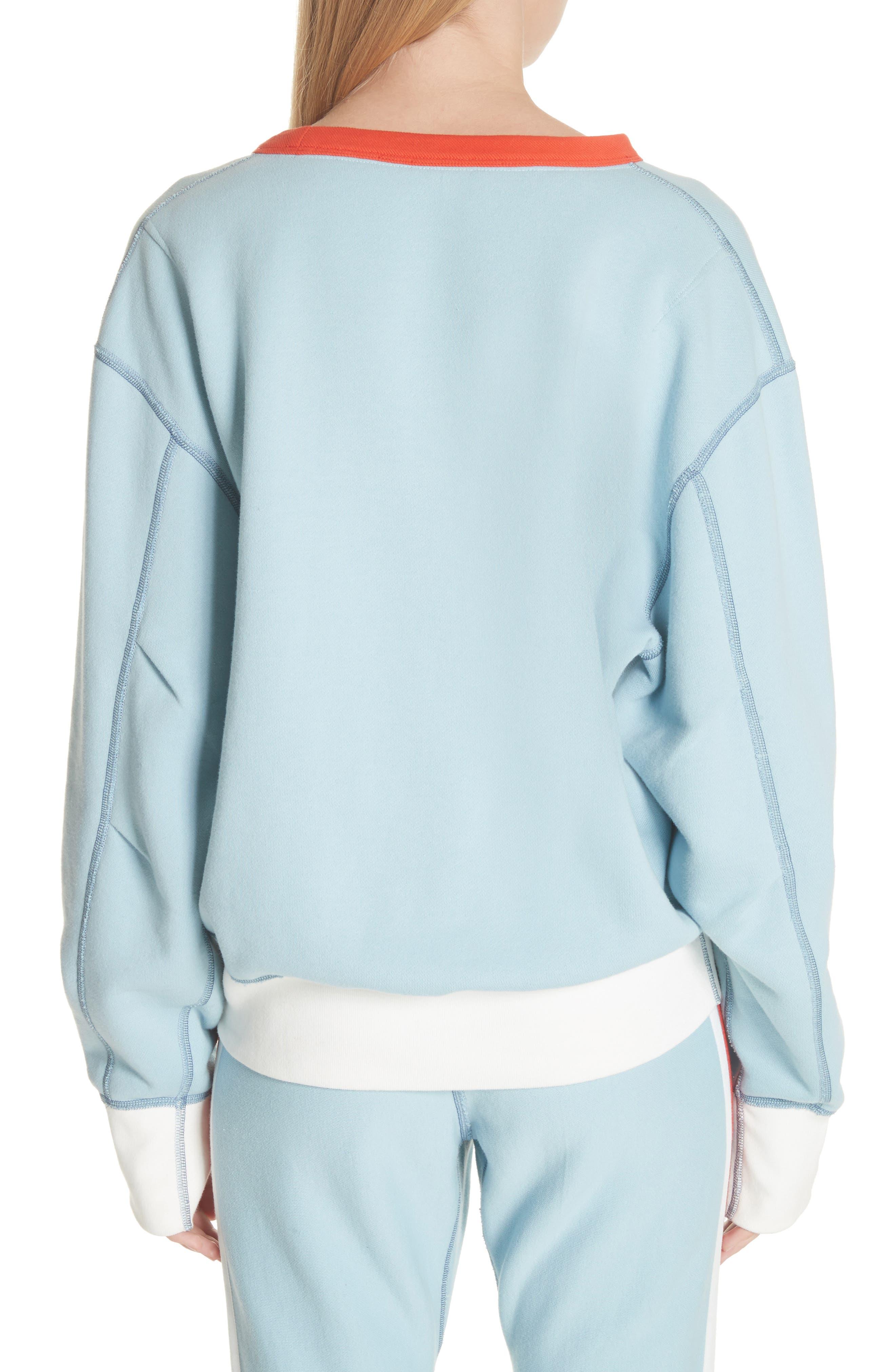 Combat Sweatshirt,                             Alternate thumbnail 2, color,                             Pale Aqua
