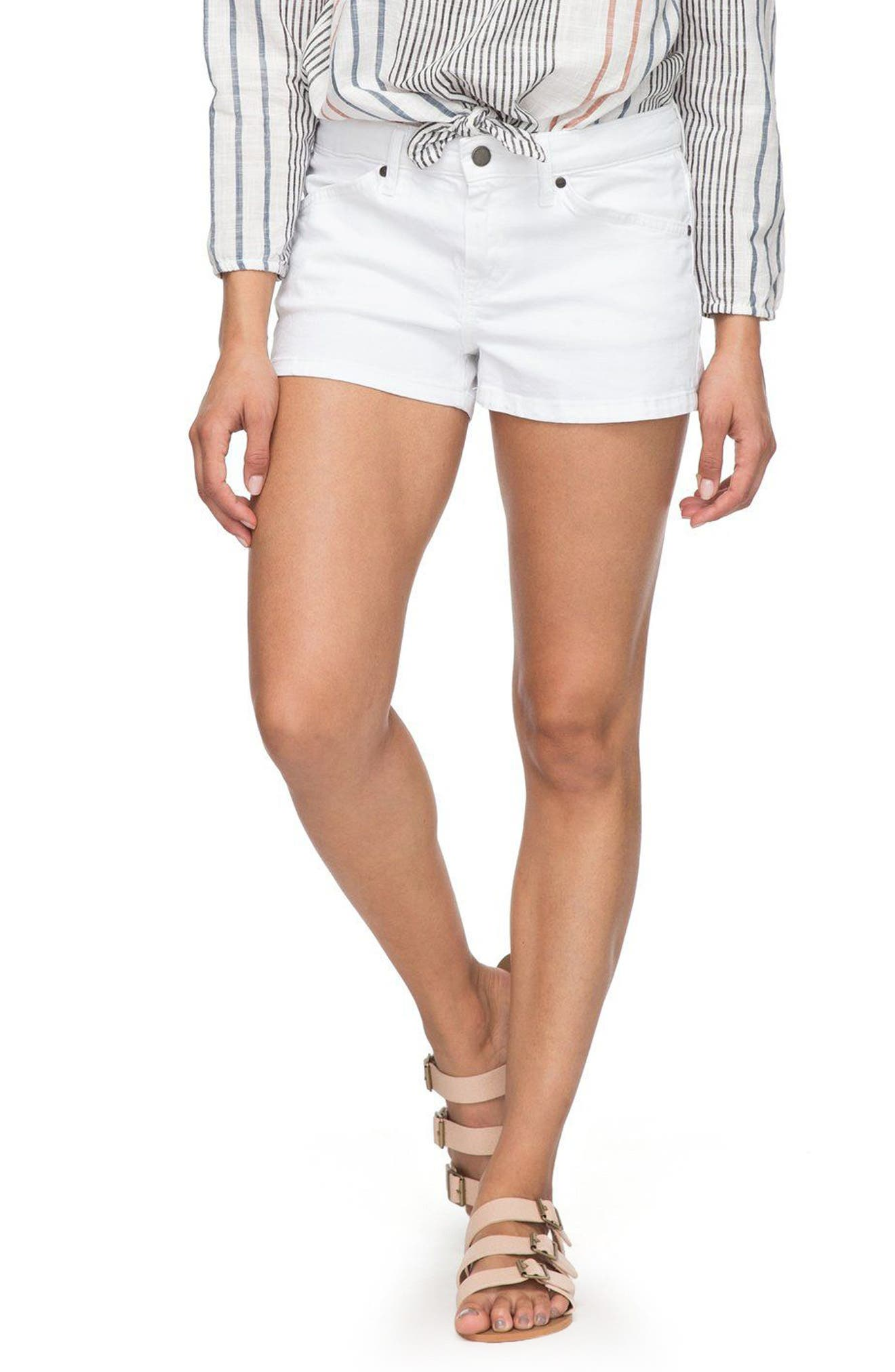 Seatripper Denim Shorts,                             Main thumbnail 1, color,                             White