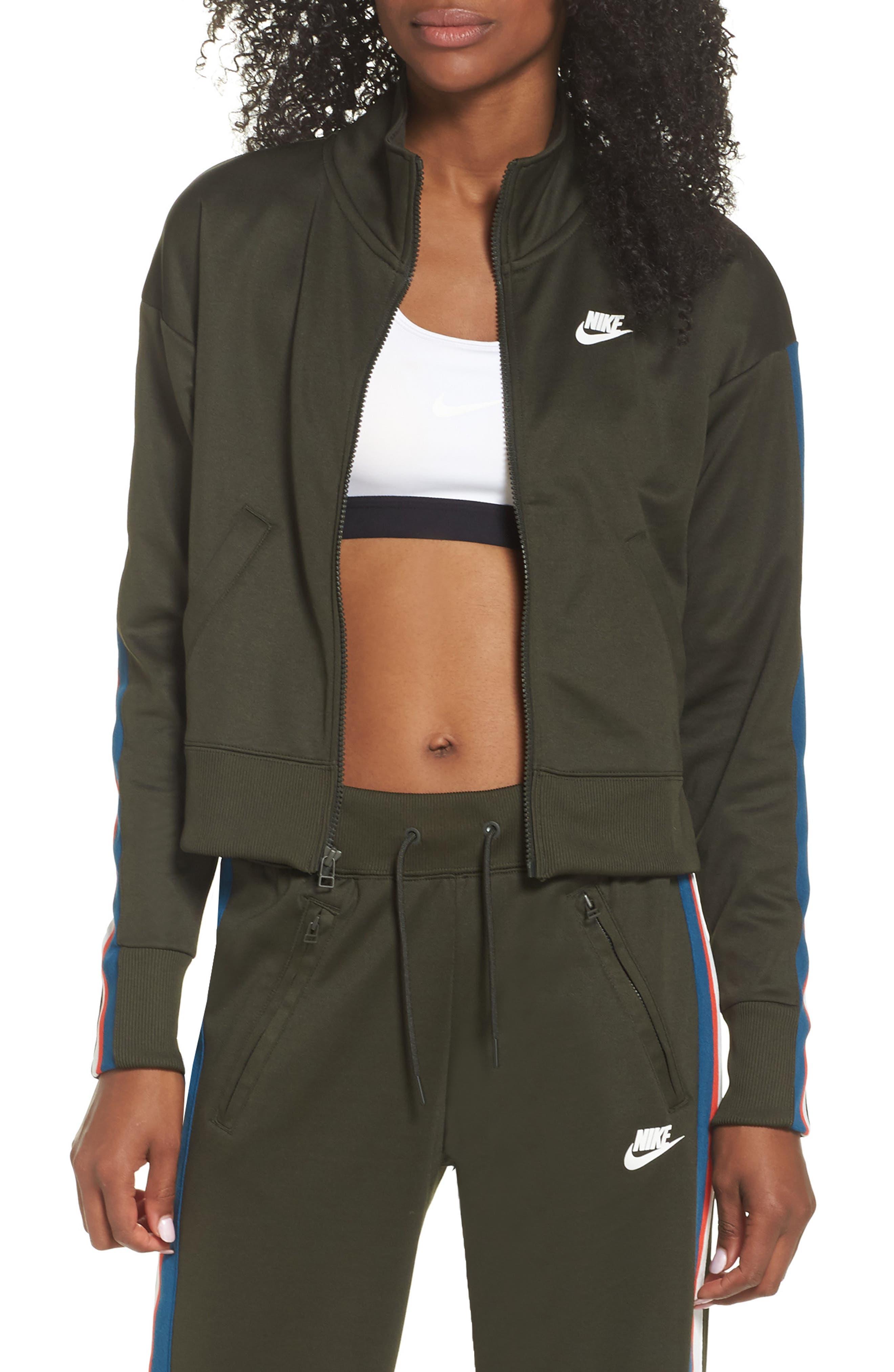 Sportswear Crop Jacket,                             Main thumbnail 1, color,                             Sequoia/ Sail