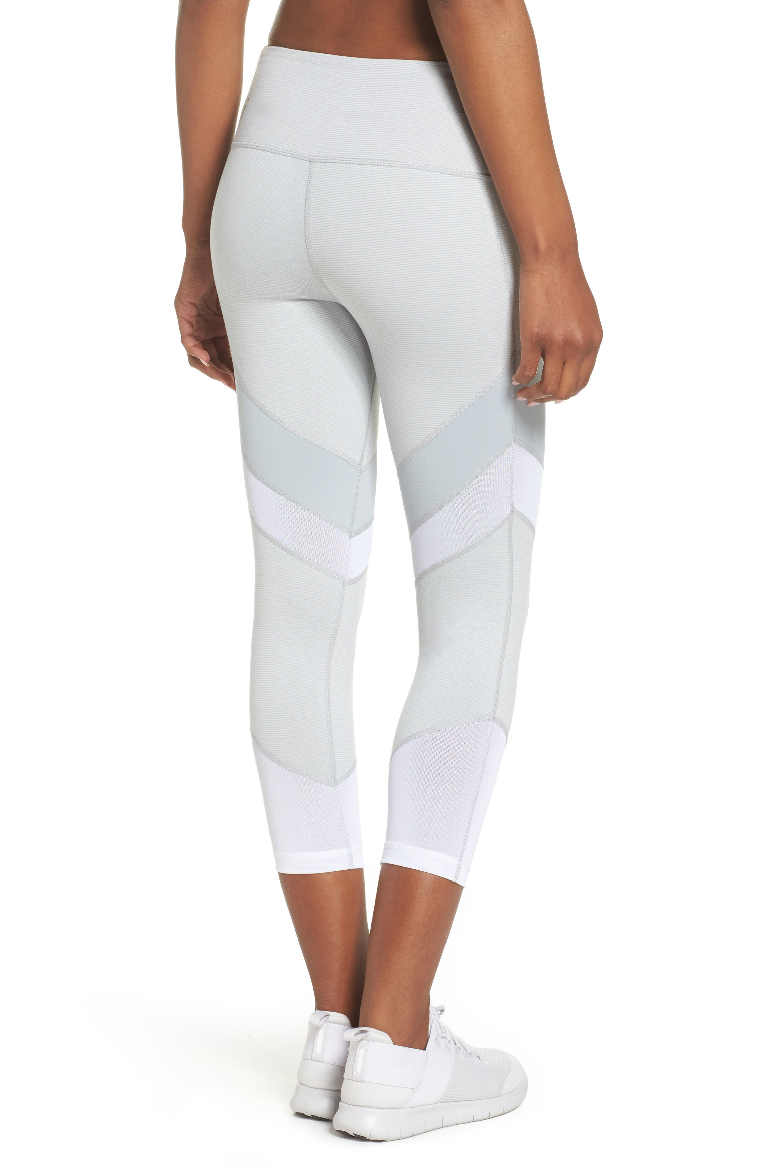 Live In Electric Mix Power Mesh Crop Leggings,                             Alternate thumbnail 2, color,                             Grey Wolf Terra