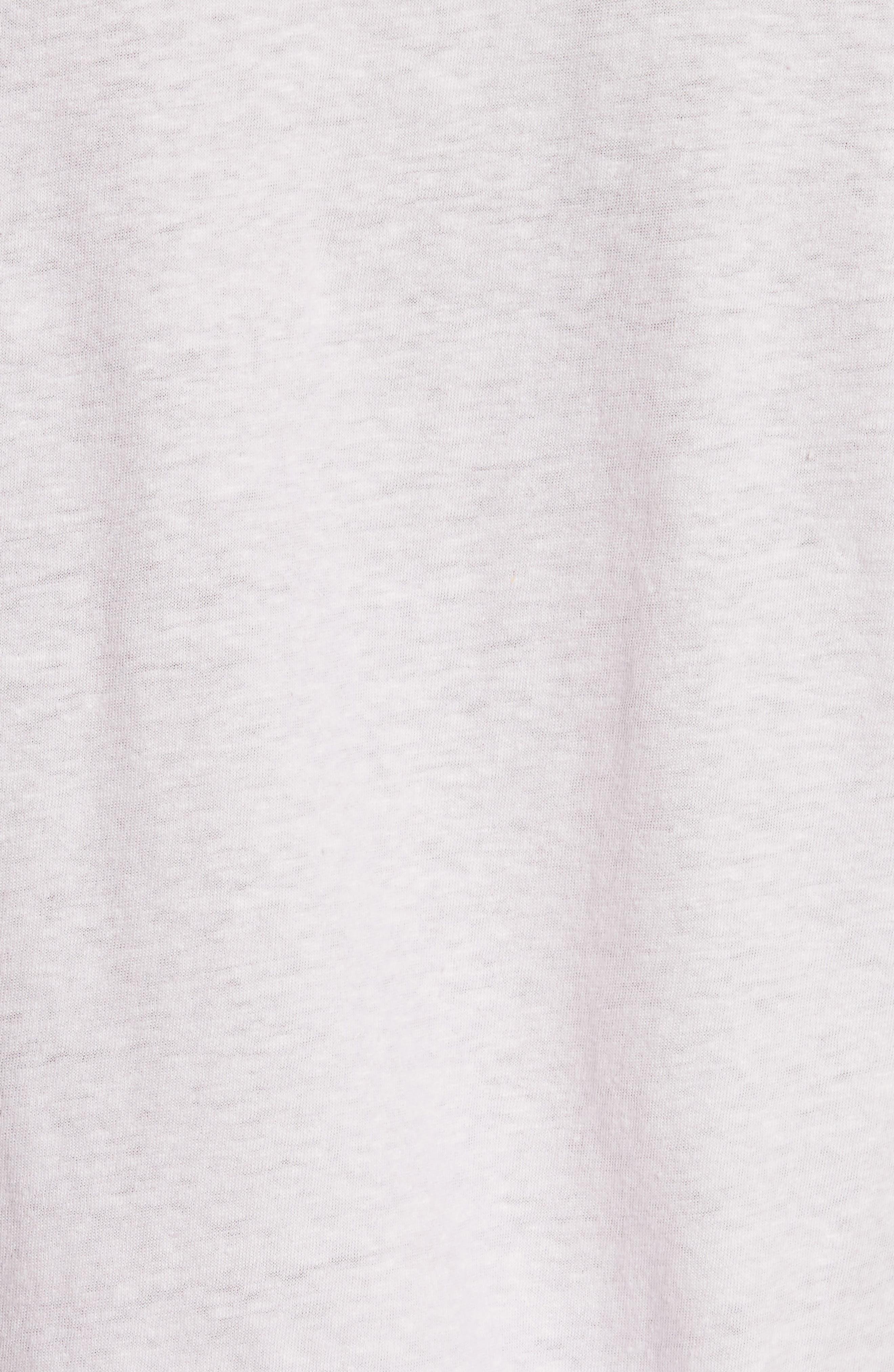 Flutter Sleeve Tee,                             Alternate thumbnail 5, color,                             Lilac Dust