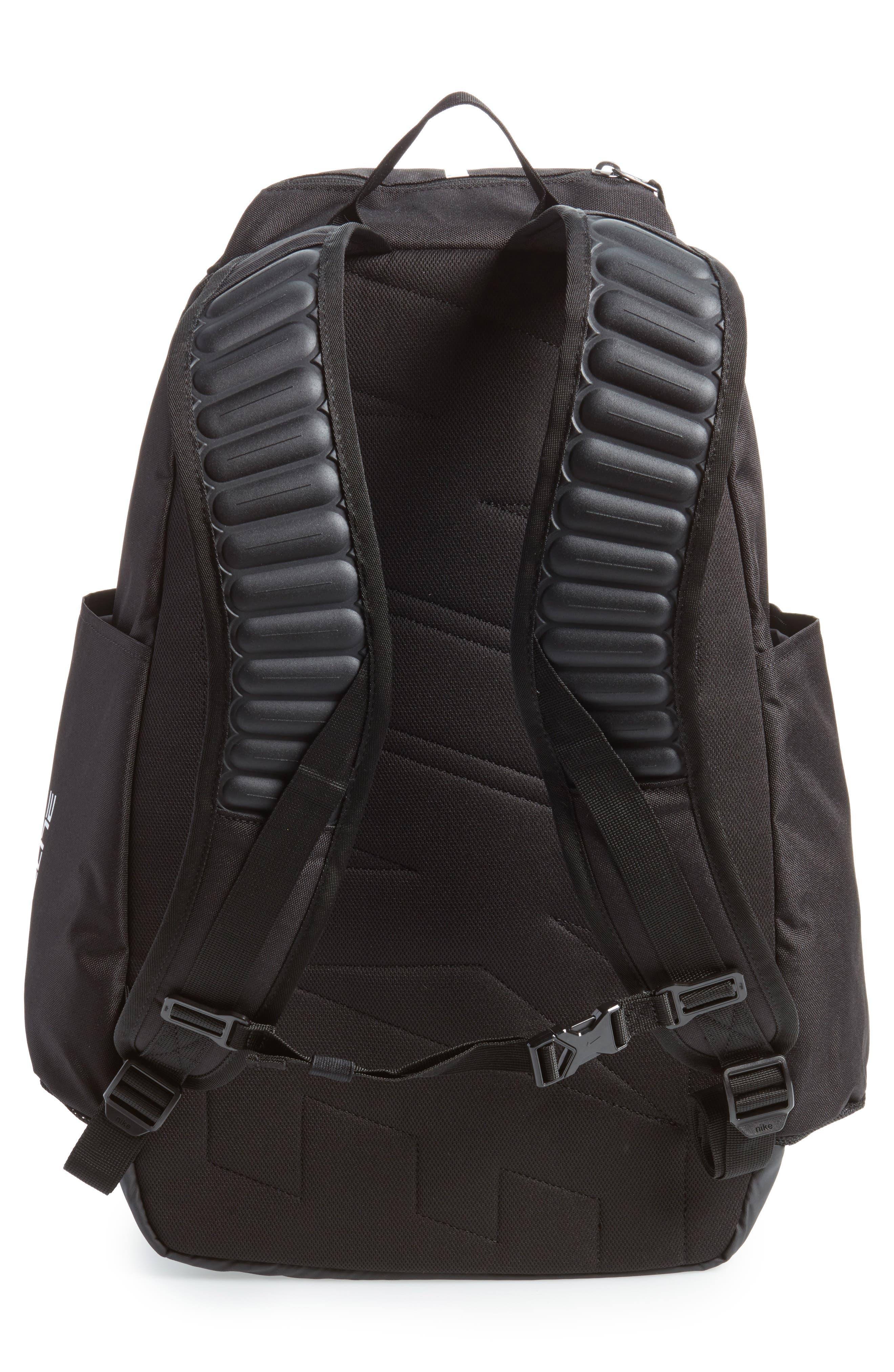 Hoops Elite Max Air Team Backpack,                             Alternate thumbnail 2, color,                             Black / White