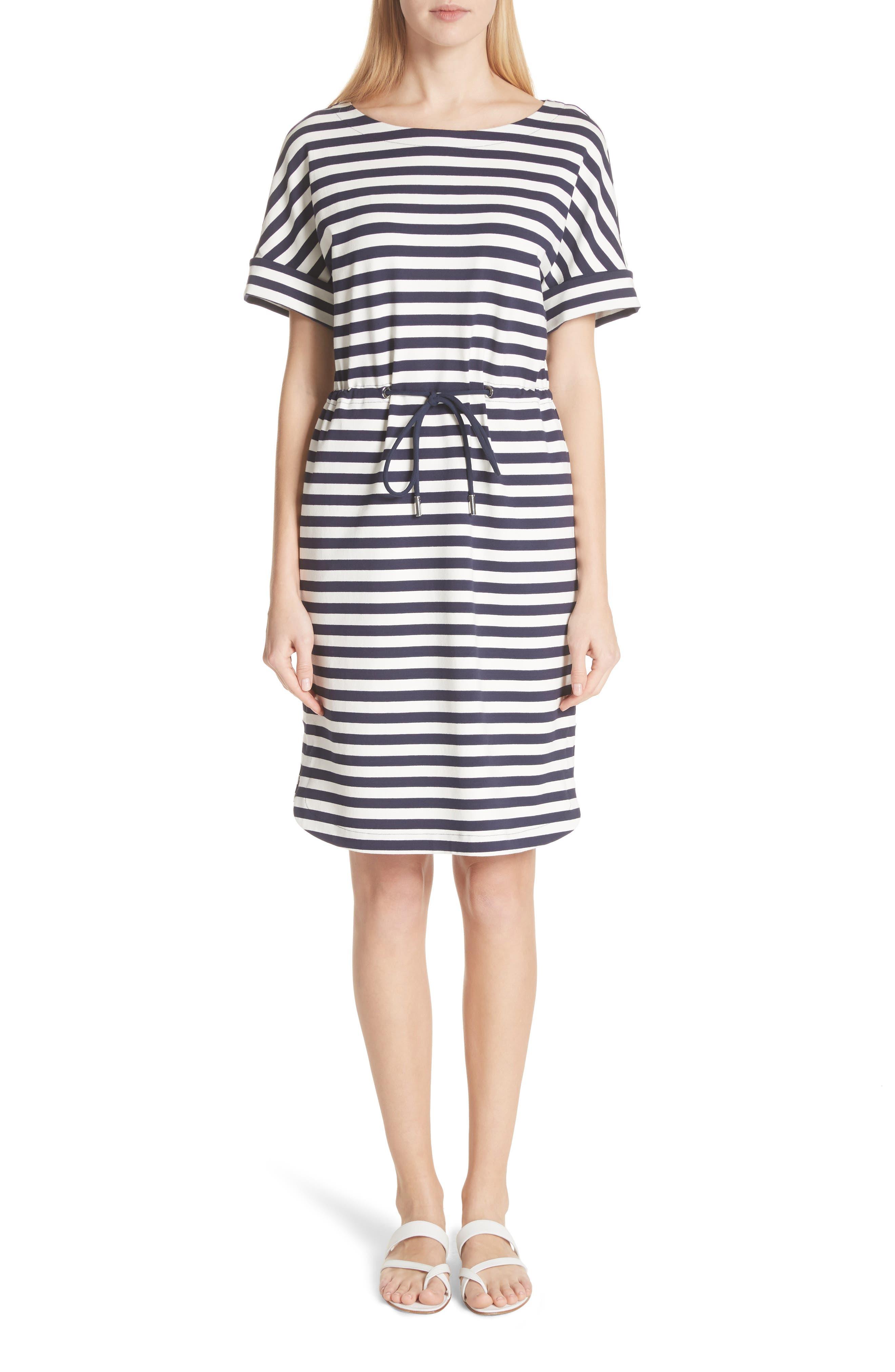 Brandon Tee Dress,                         Main,                         color, Delft Multi