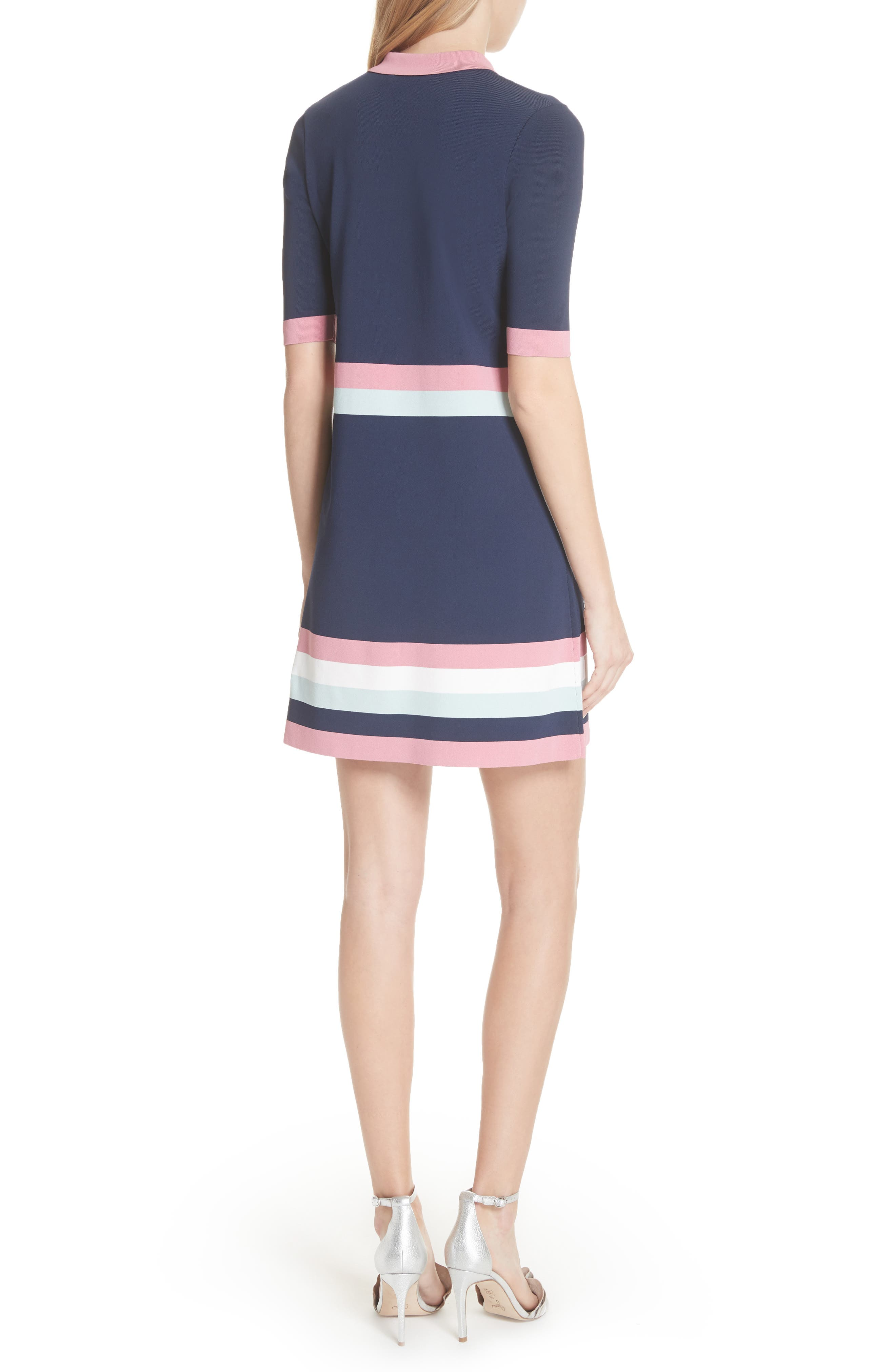 Colour by Numbers Border Stripe Dress,                             Alternate thumbnail 2, color,                             Blue