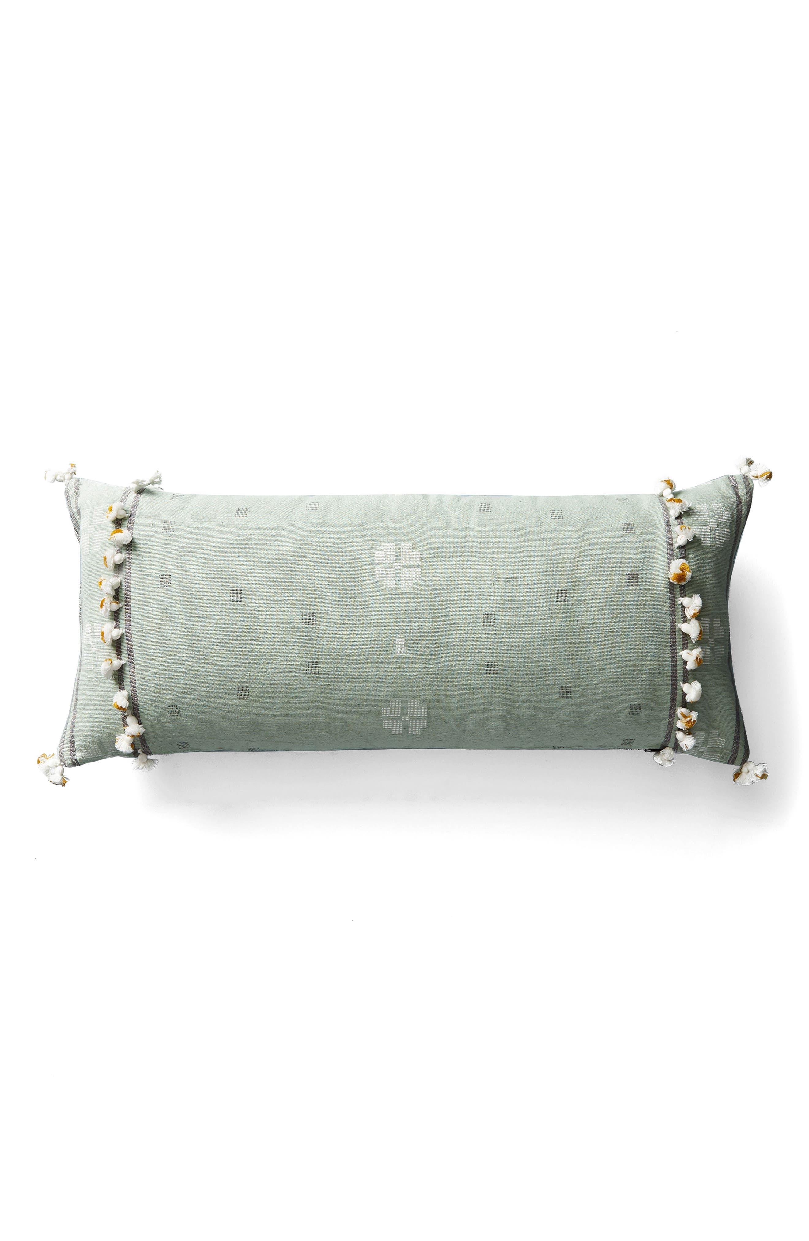 Araya Accent Pillow,                             Alternate thumbnail 5, color,                             Ochre/ Turquoise