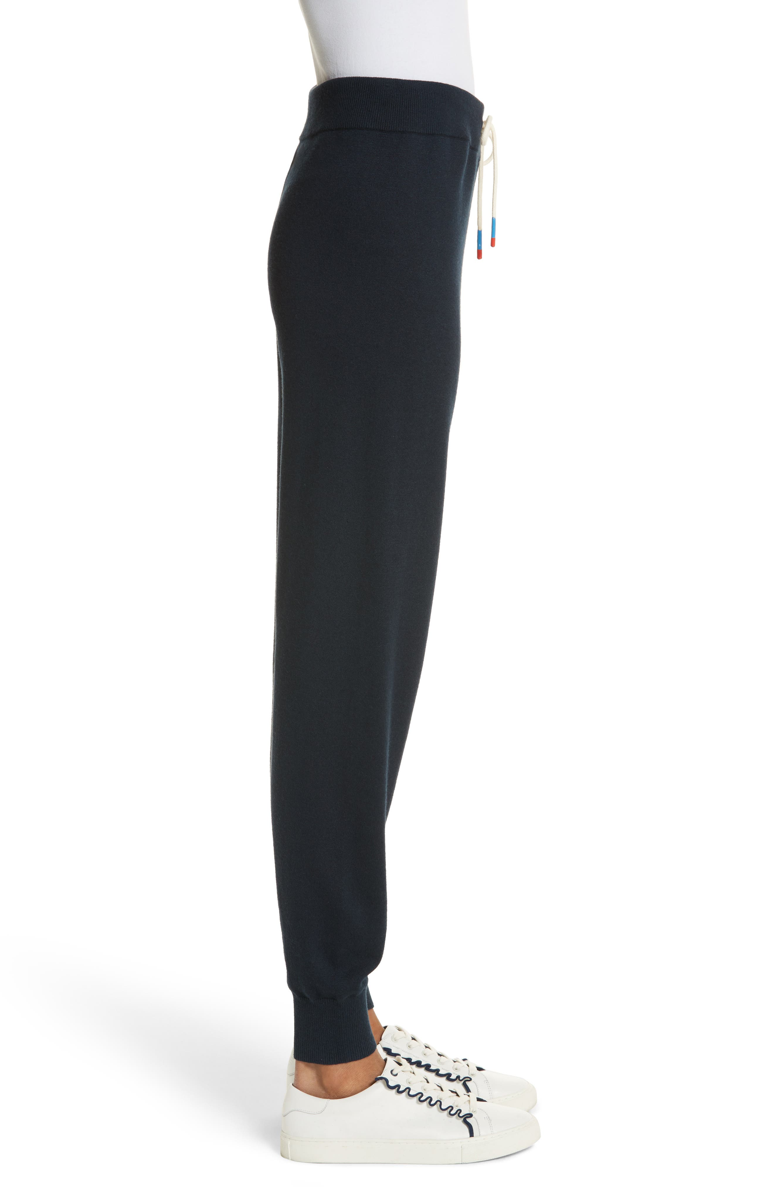 Performance Cashmere Blend Lounge Pants,                             Alternate thumbnail 4, color,                             Tory Navy