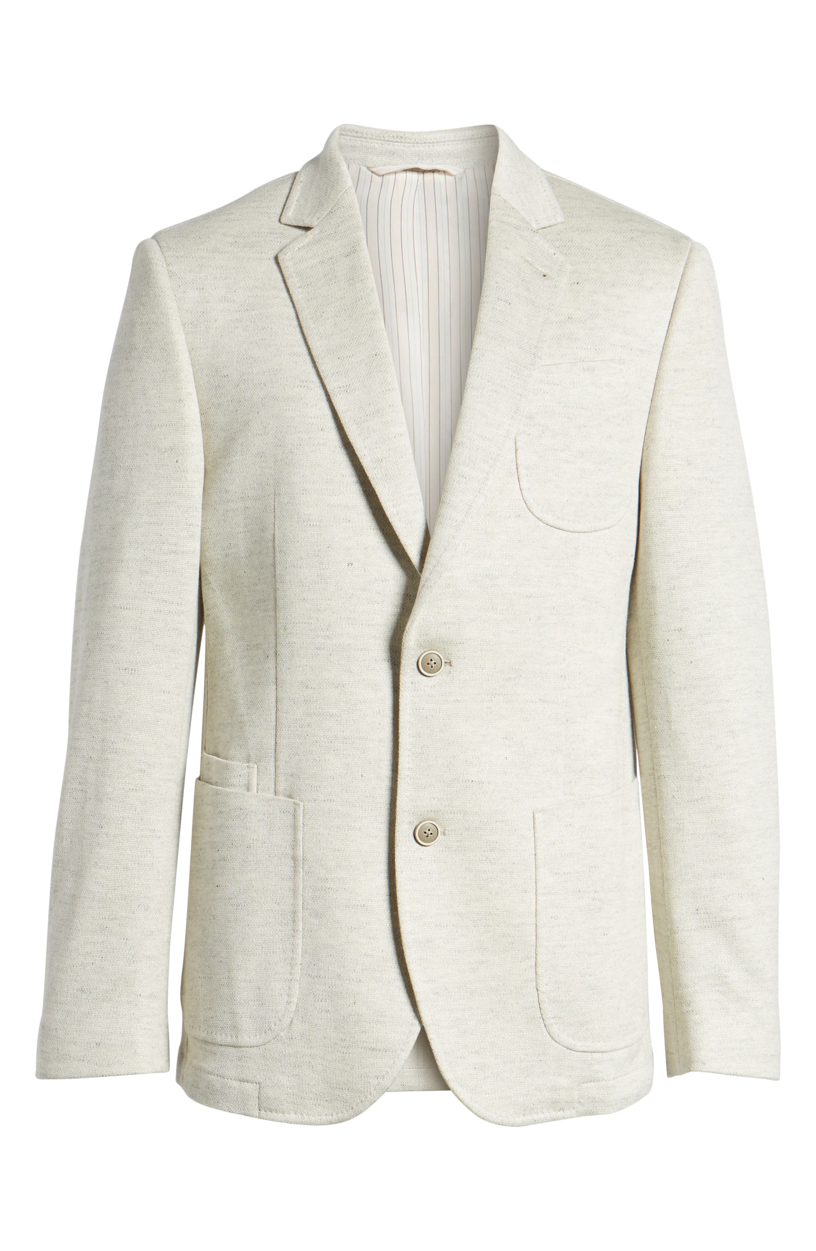 Classic Fit Heathered Jersey Sport Coat,                             Alternate thumbnail 6, color,                             Light Grey