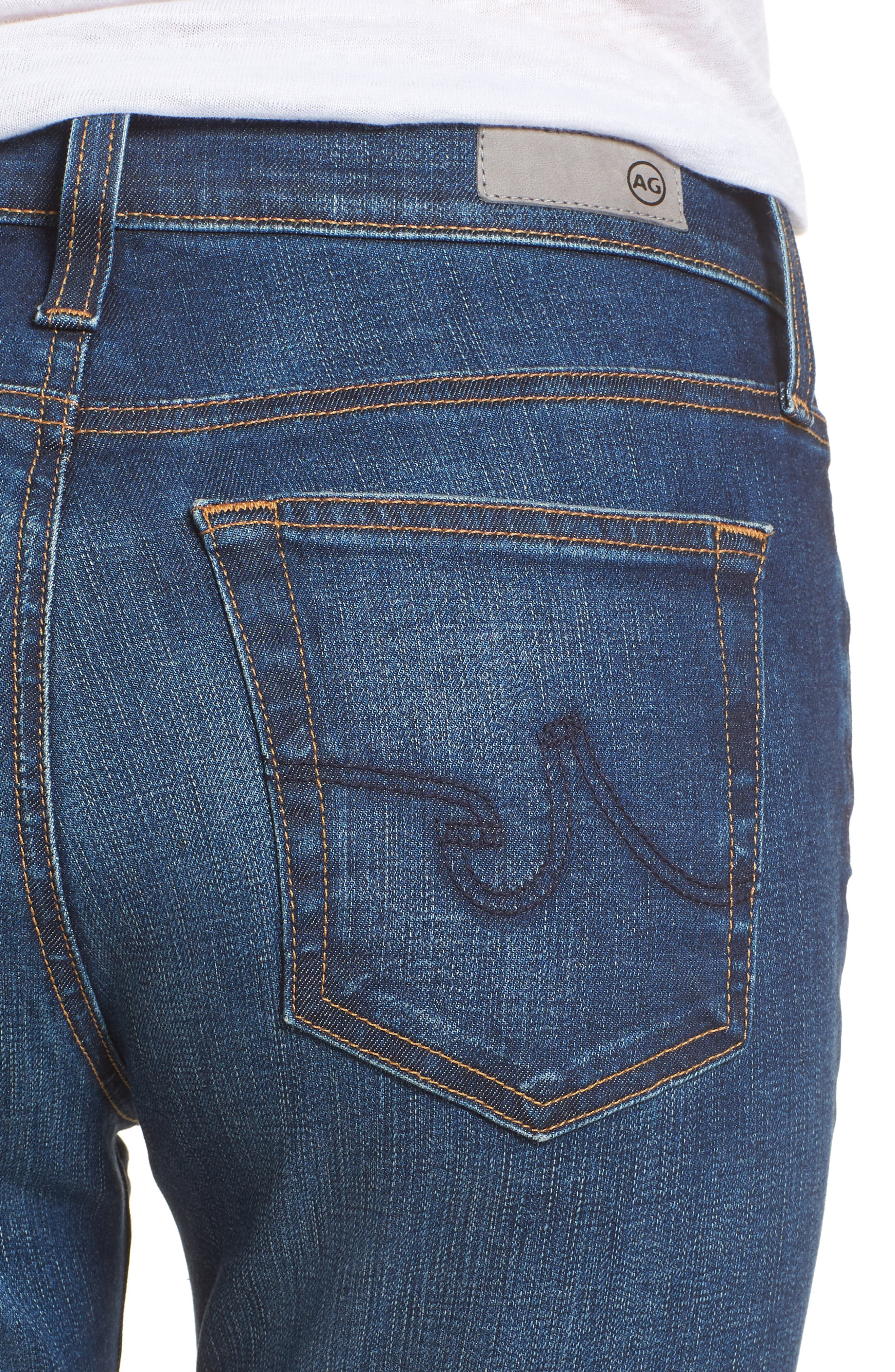 The Farrah High Waist Ankle Skinny Jeans,                             Alternate thumbnail 4, color,                             7 Year Chasm