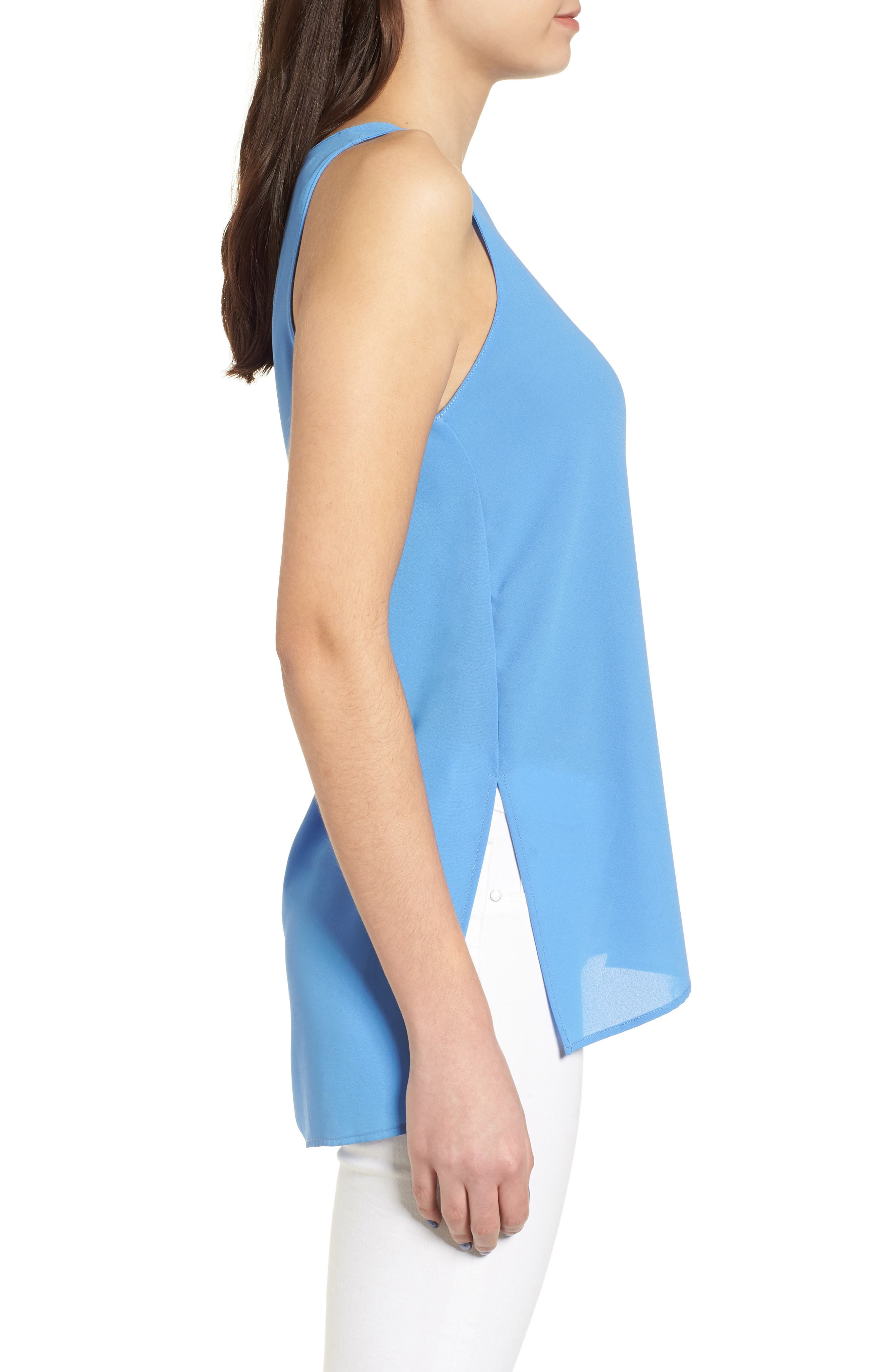Side Slit Tank,                             Alternate thumbnail 3, color,                             Sky Blue