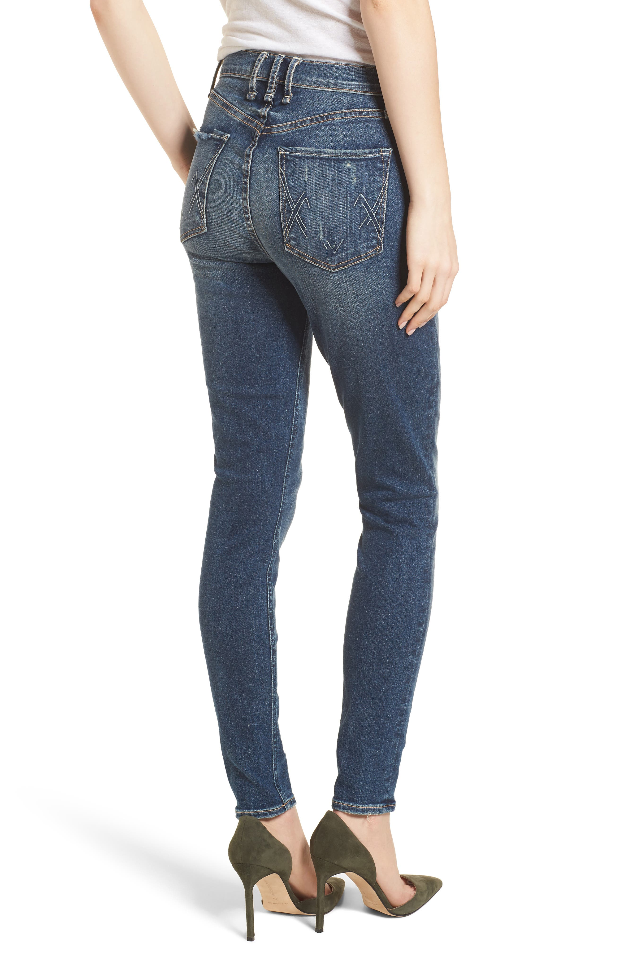 Newton High Rise Skinny Jeans,                             Alternate thumbnail 2, color,                             Sampaio