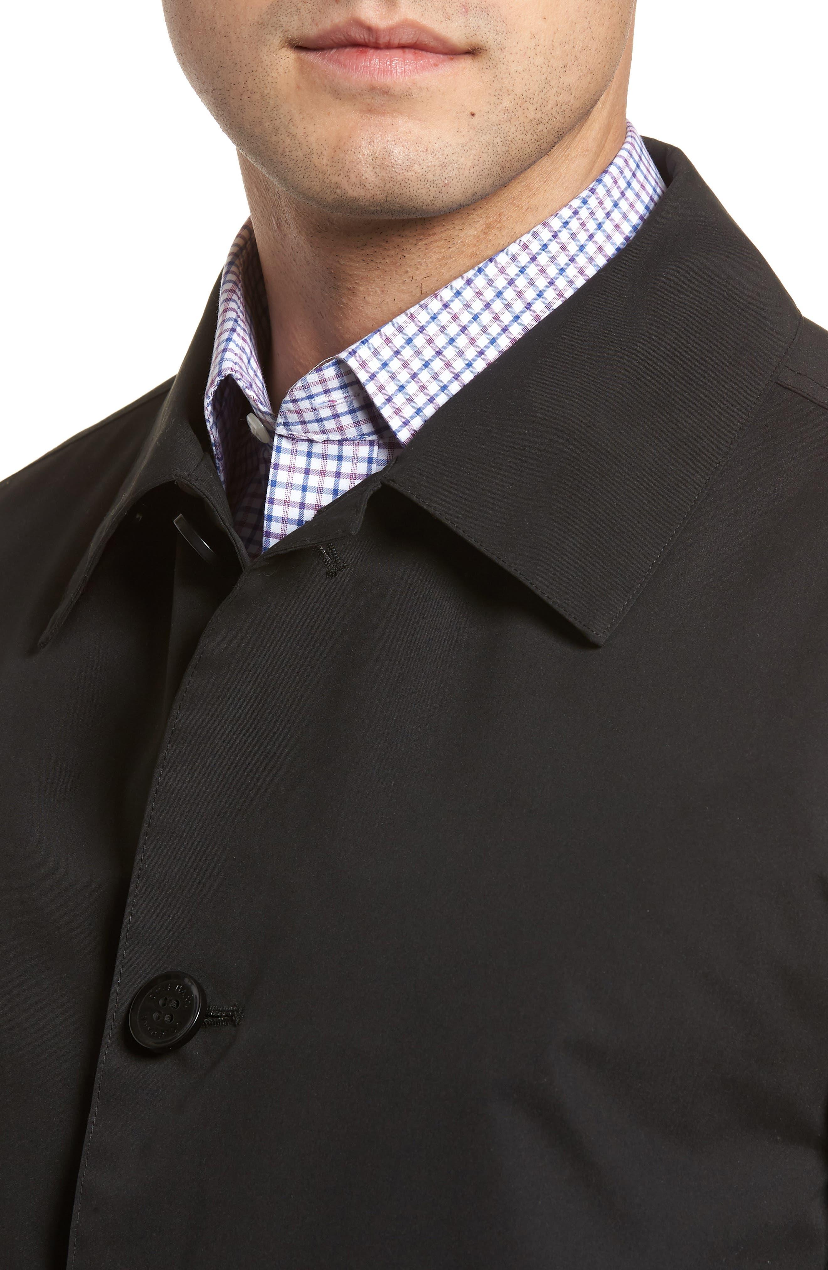 Raincoat,                             Alternate thumbnail 4, color,                             Black