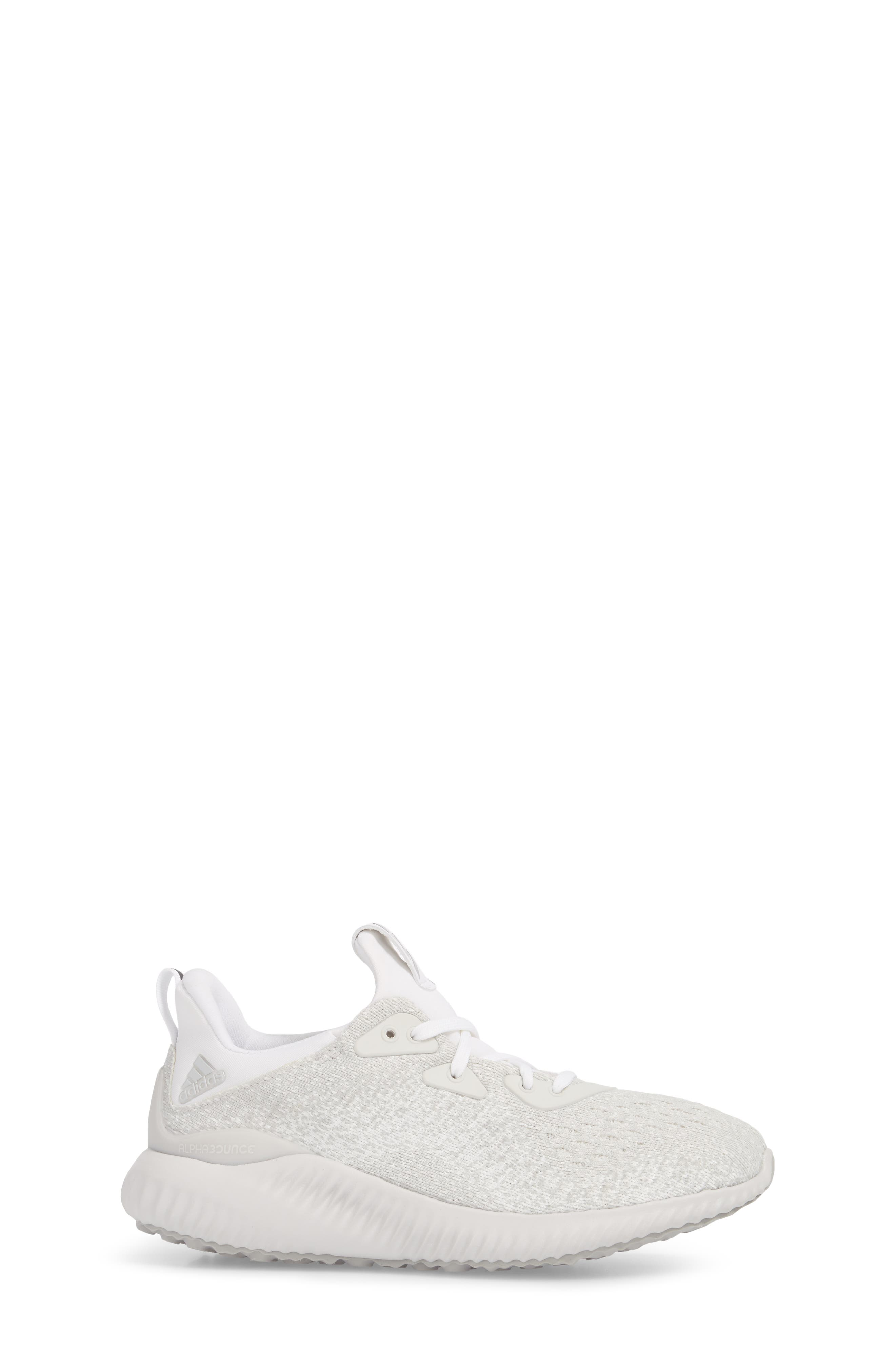AlphaBounce EM Running Shoe,                             Alternate thumbnail 3, color,                             Grey / Silver Met / Non-Dyed