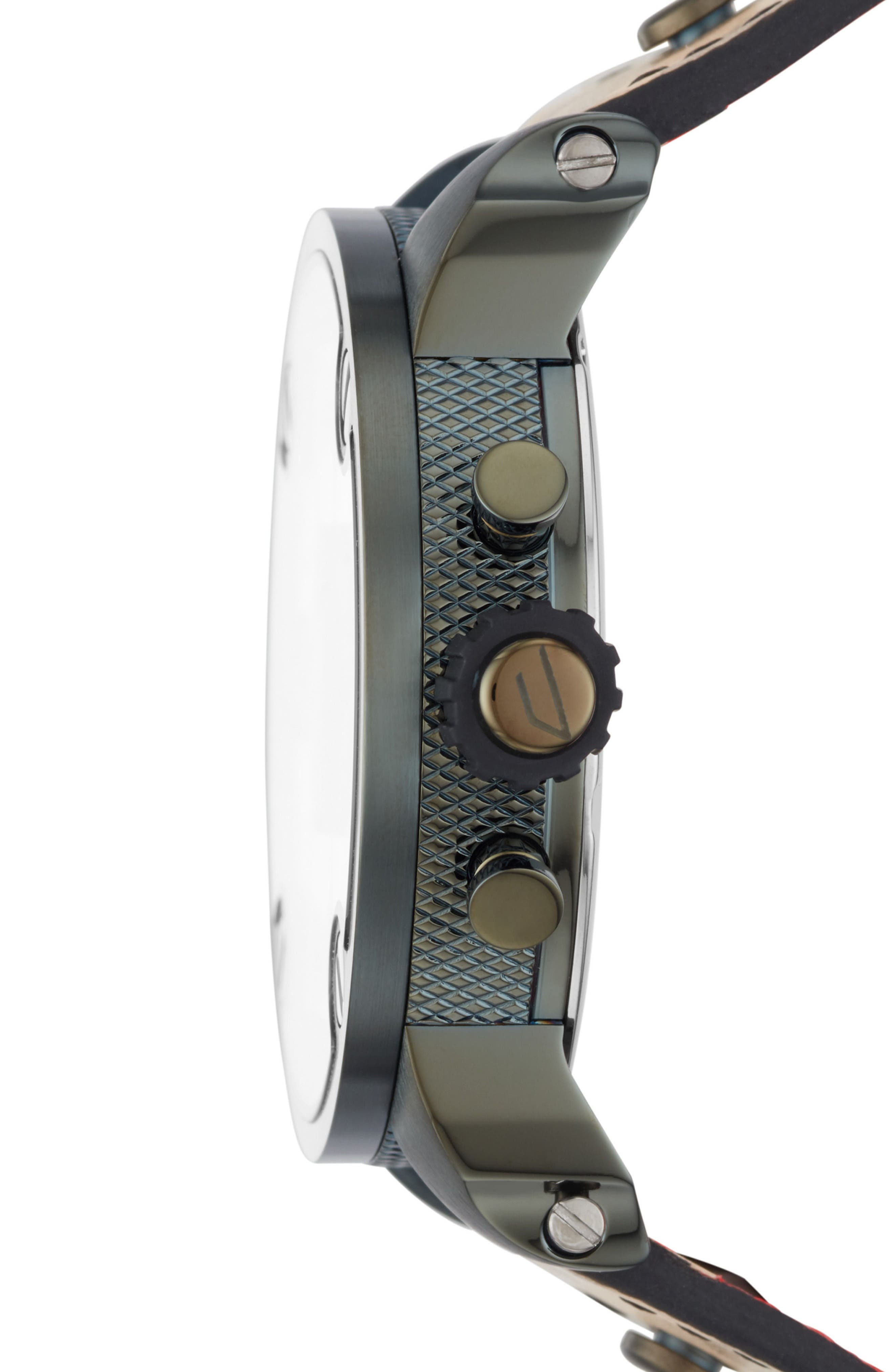 Little Daddy Leather Strap Chronograph Watch, 52mm,                             Alternate thumbnail 2, color,                             White/ Brown