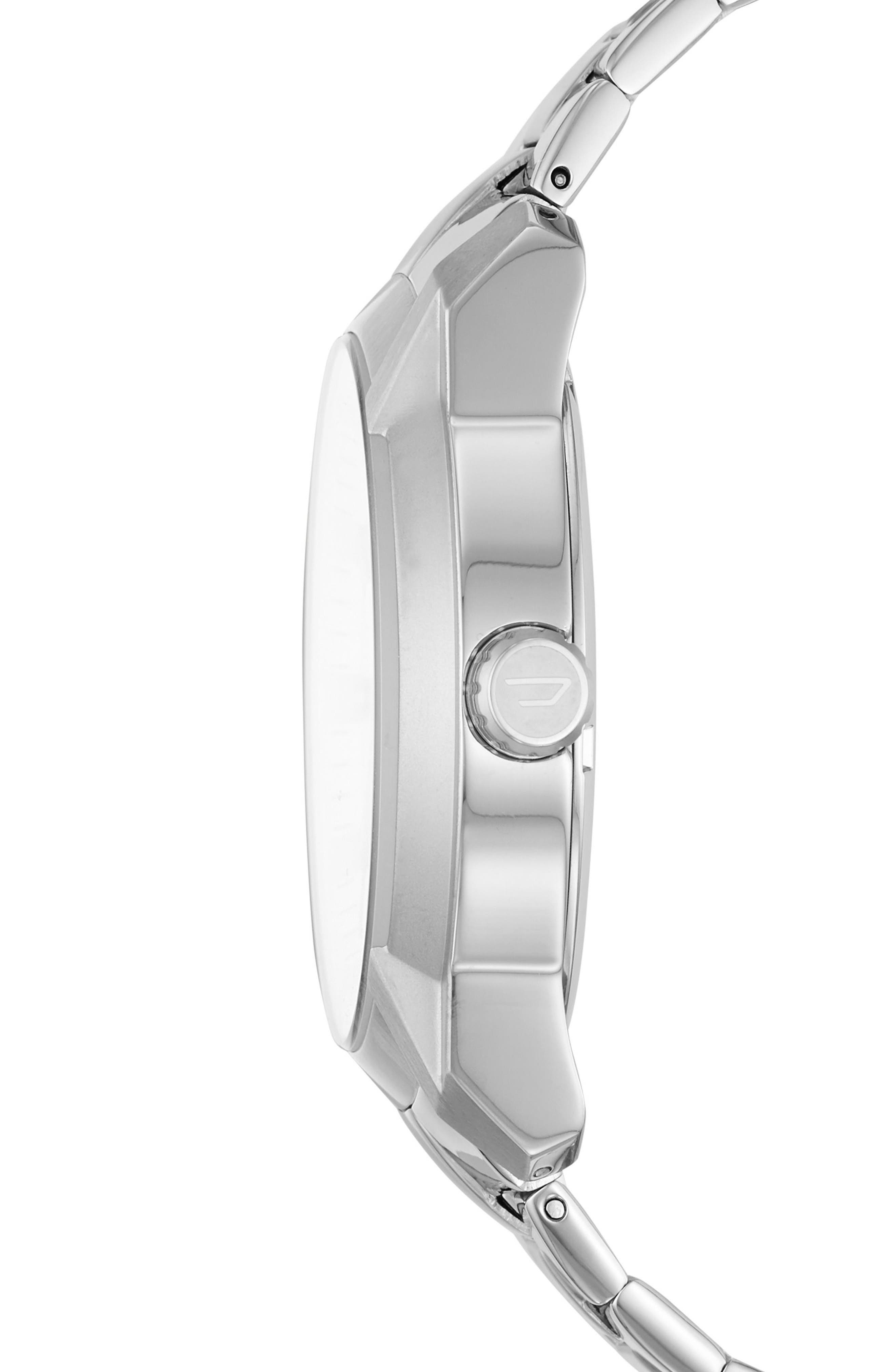 Armbar Bracelet Watch, 44mm,                             Alternate thumbnail 2, color,                             White/ Stainless