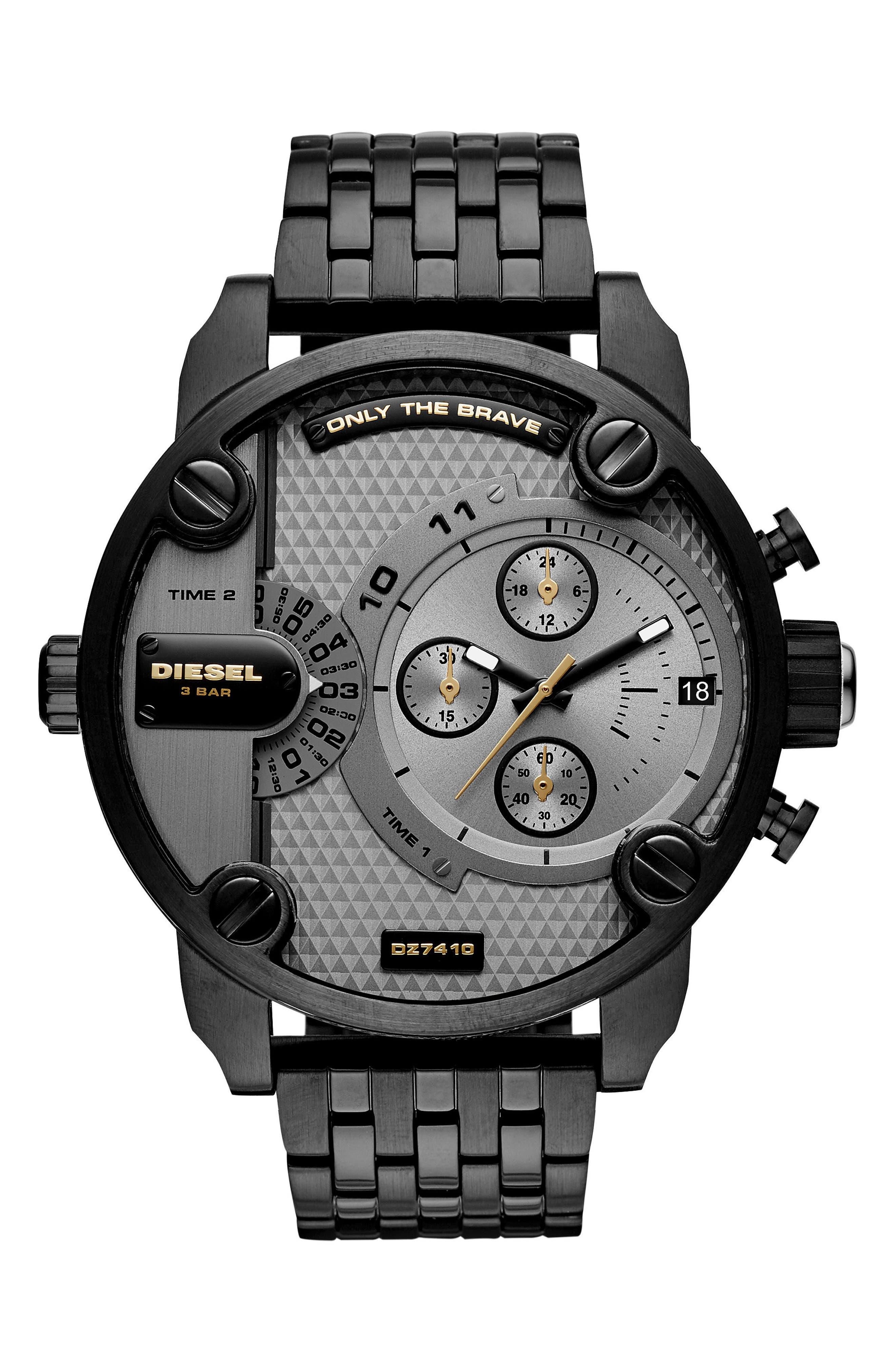 Little Daddy Chronograph Bracelet Watch, 52mm,                             Main thumbnail 1, color,                             Gunmetal/ Black