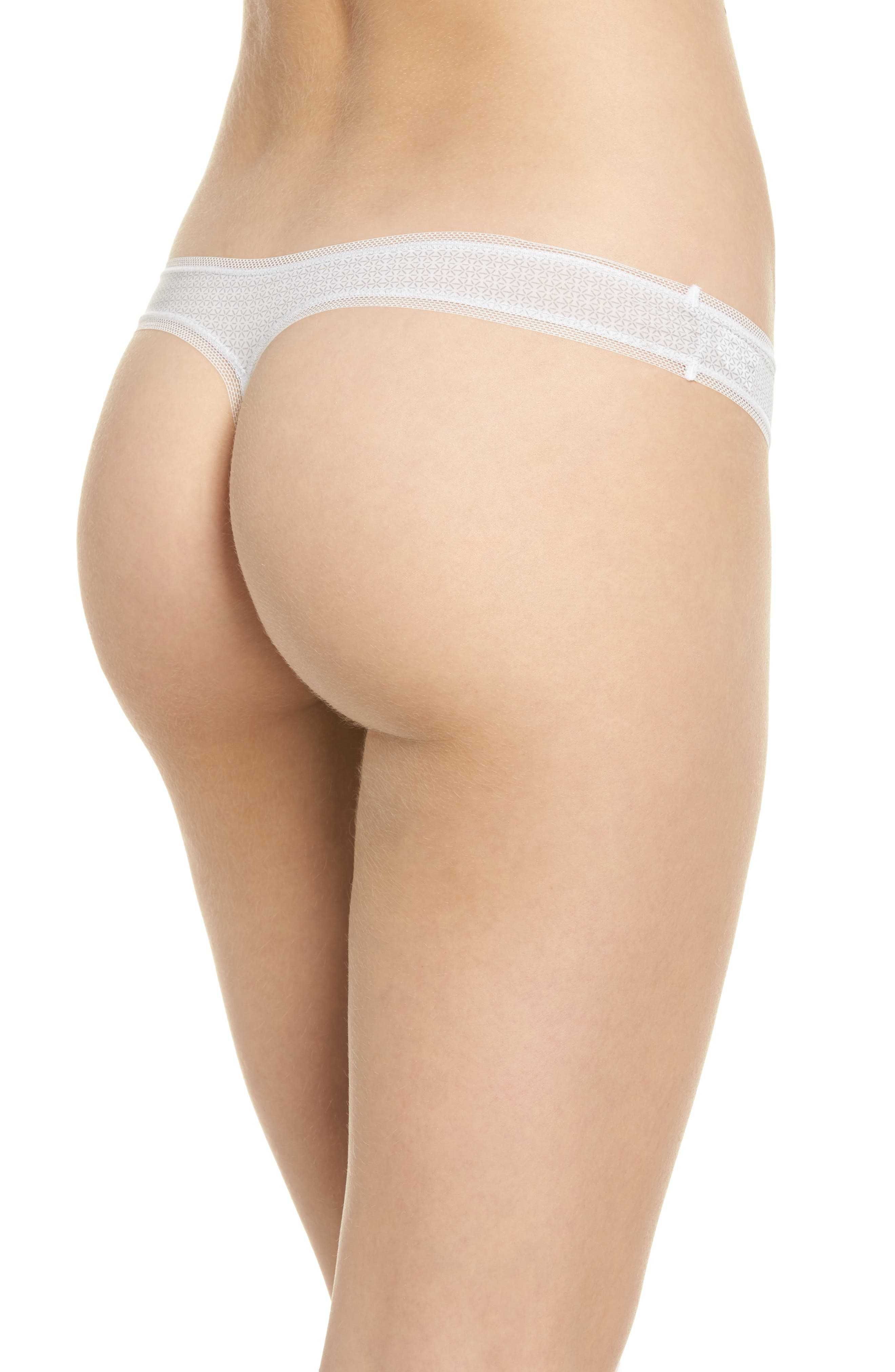 Alternate Image 2  - DKNY Low Rise Thong (3 for $33)