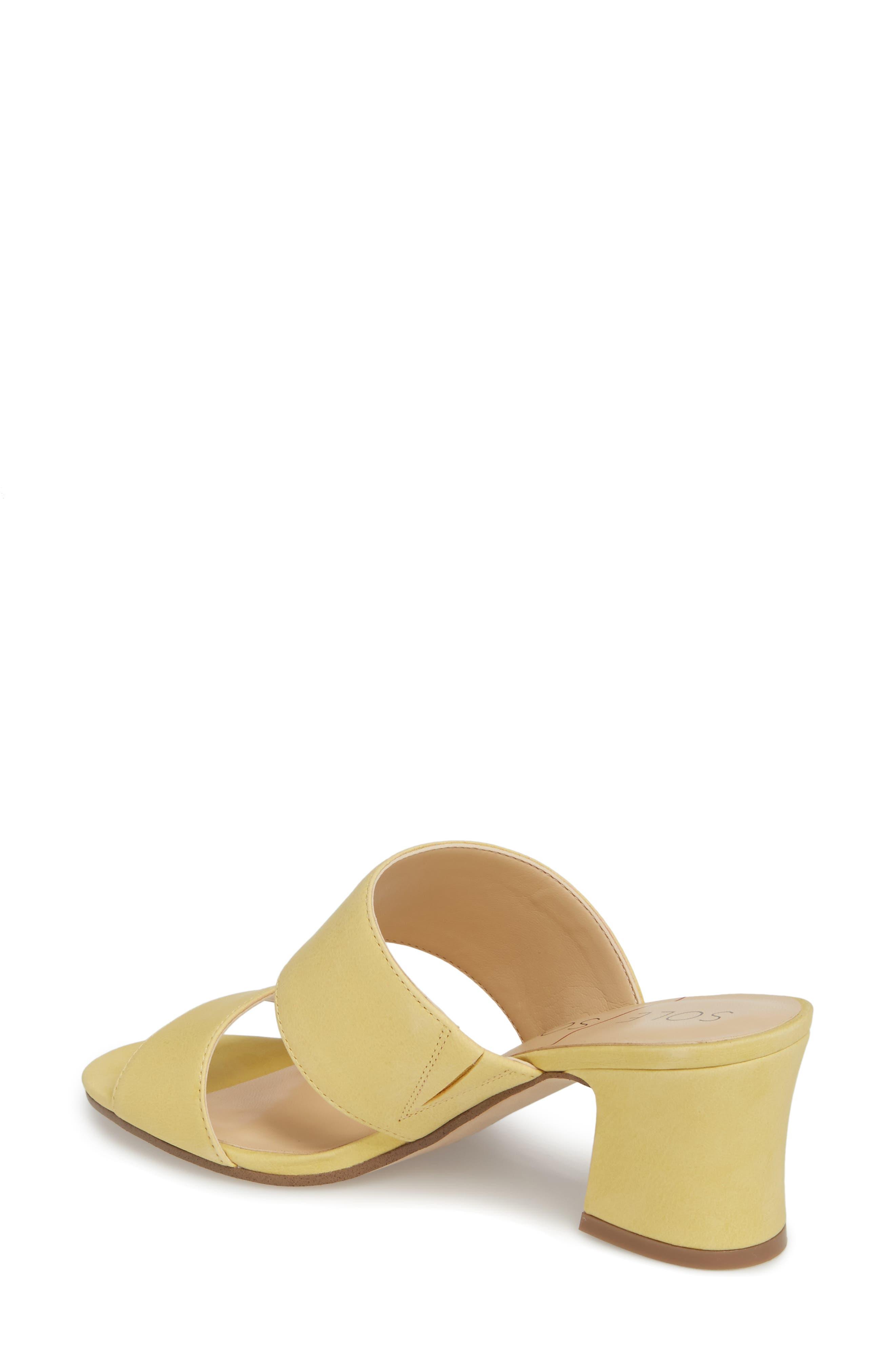 Heline Slide Sandal,                             Alternate thumbnail 2, color,                             Pale Yellow