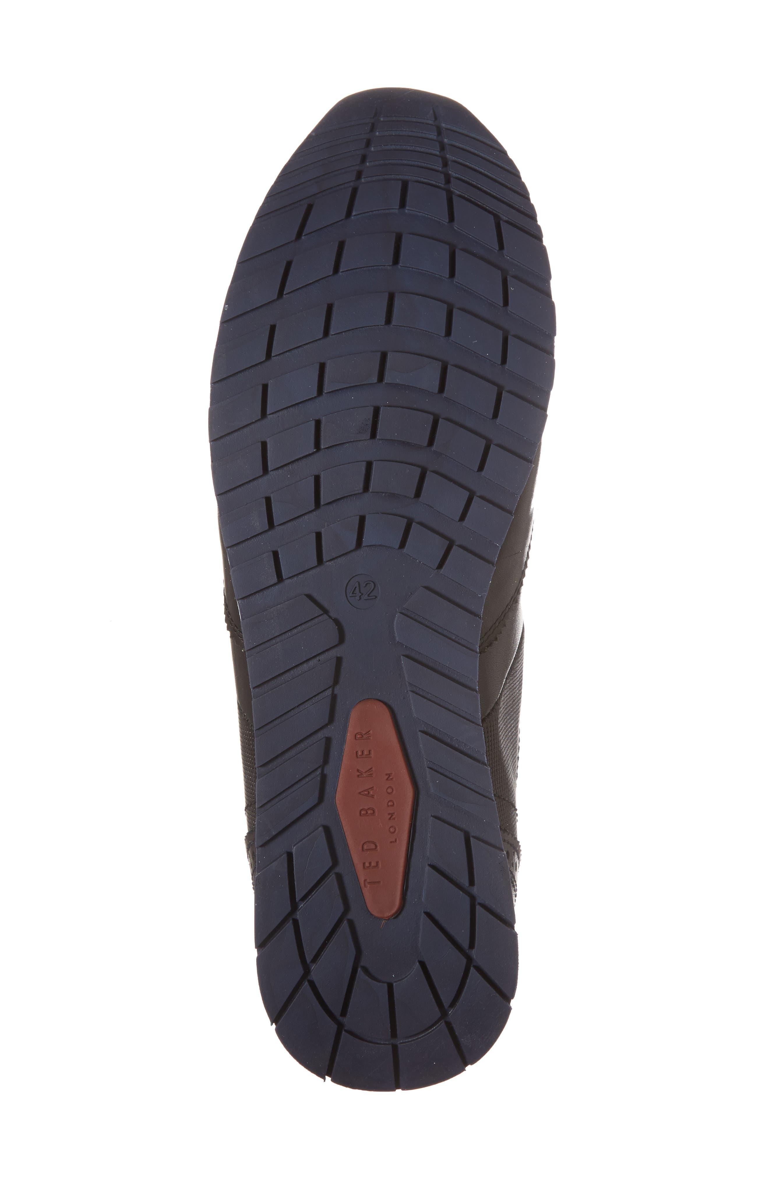 Shindl Sneaker,                             Alternate thumbnail 6, color,                             Black Leather