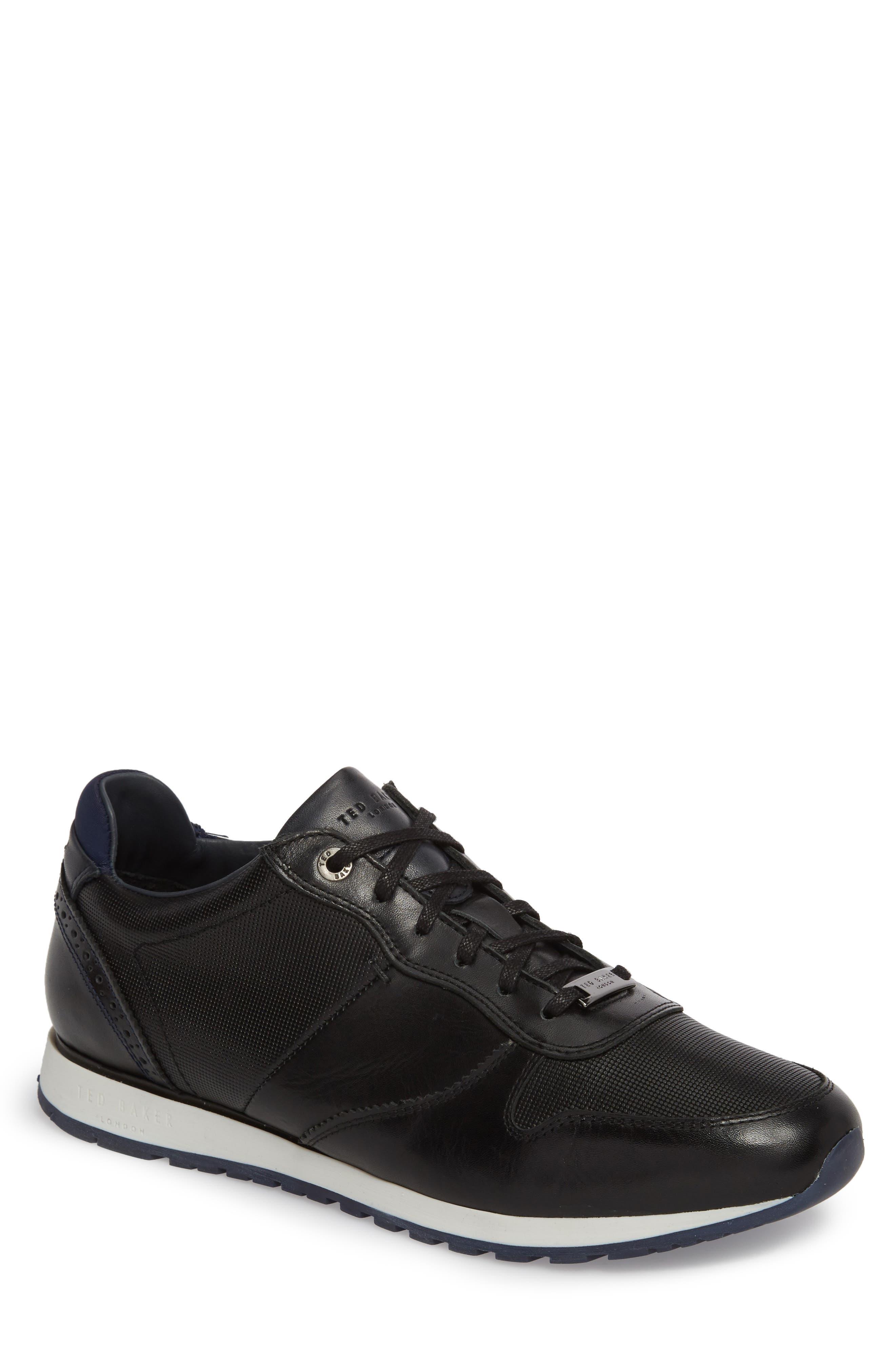 Shindl Sneaker,                         Main,                         color, Black Leather