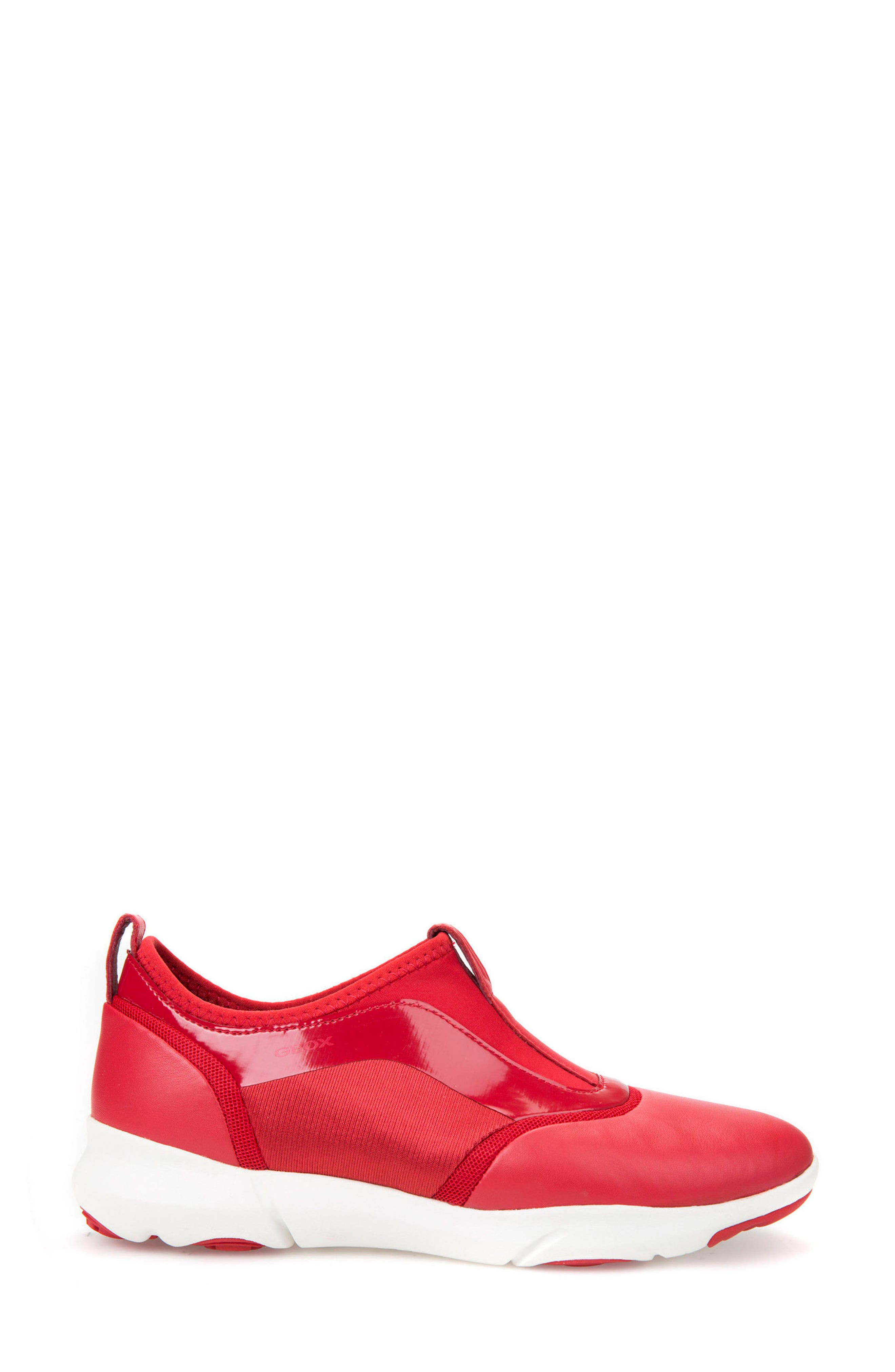 Nebula S Slip-On Sneaker,                             Alternate thumbnail 3, color,                             Red Leather
