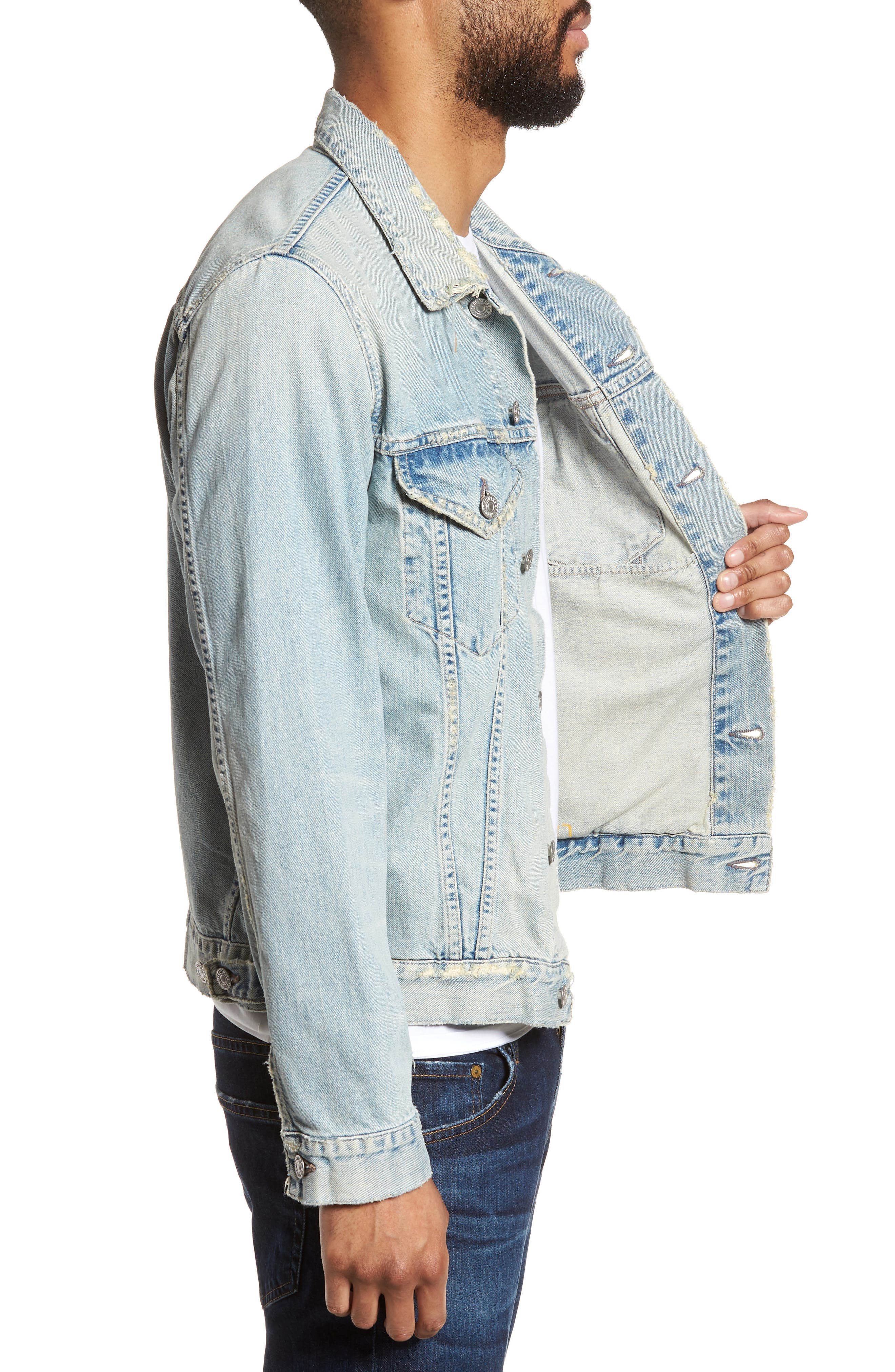 Denim Jacket,                             Alternate thumbnail 3, color,                             Silver City